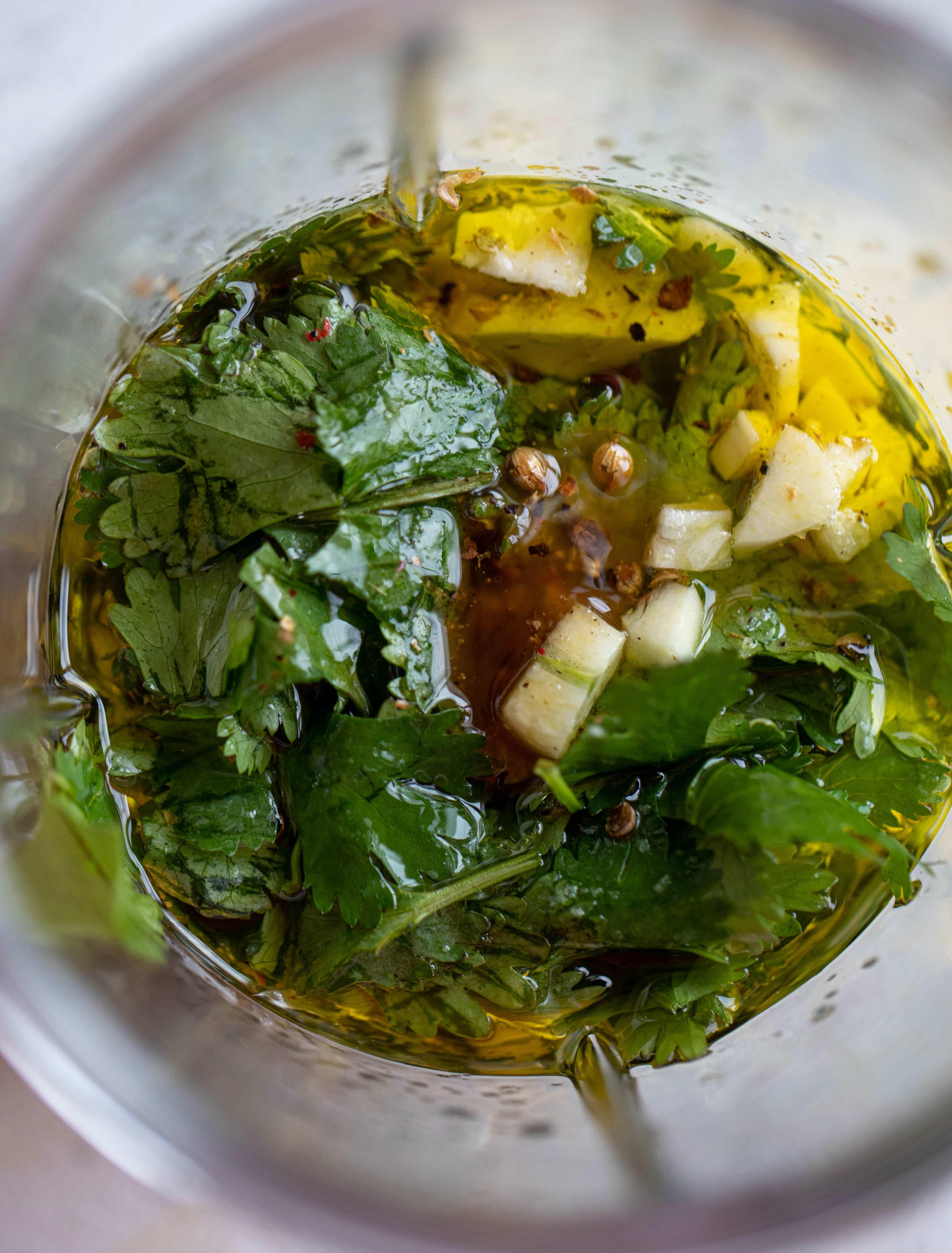 vinagreta de cilantro y lima