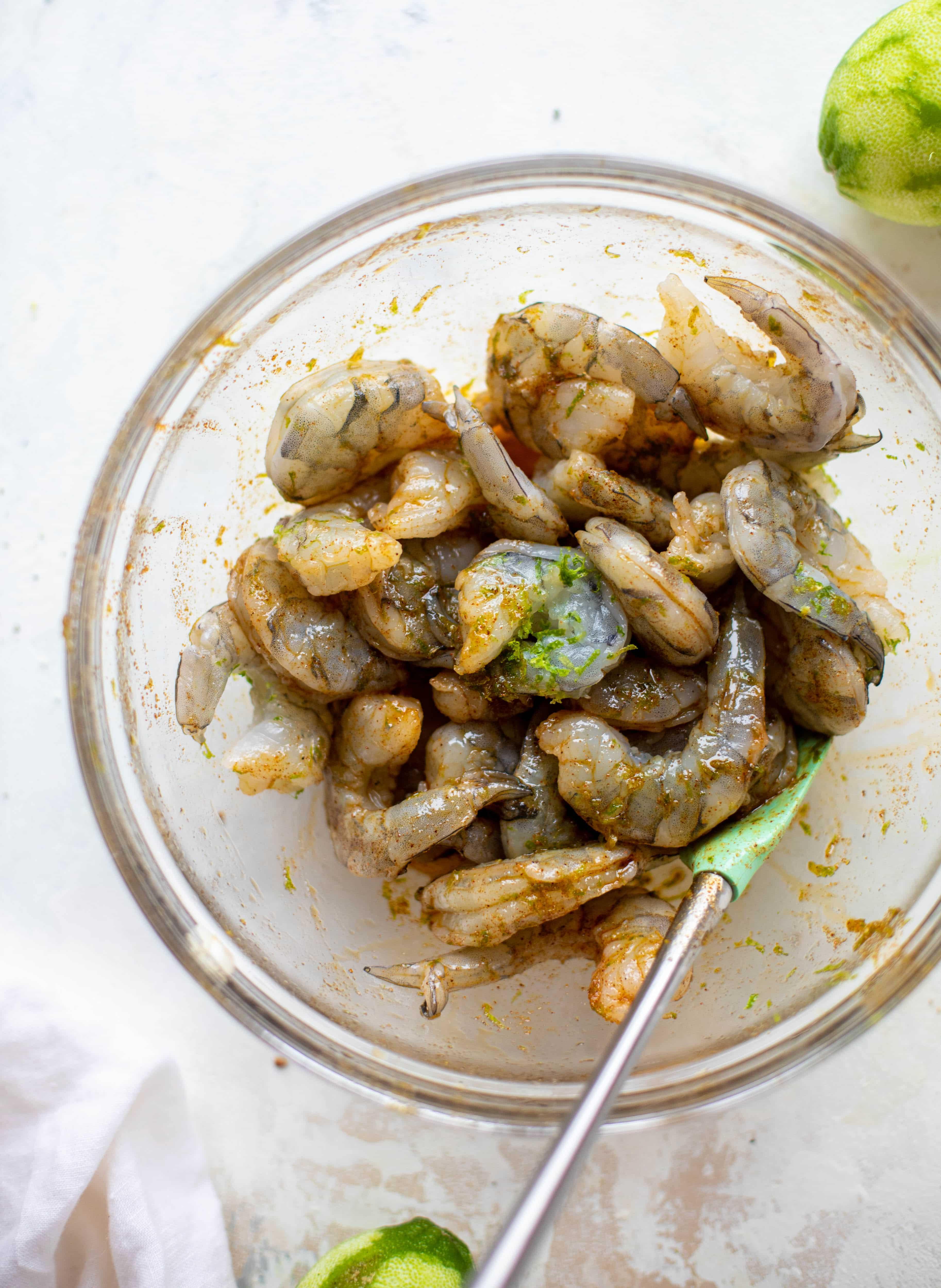 lime marinated shrimp