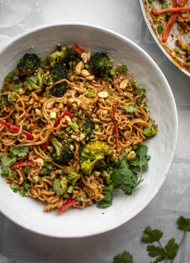Peanut Noodles - Amazing Peanut Noodles with Roasted Broccoli