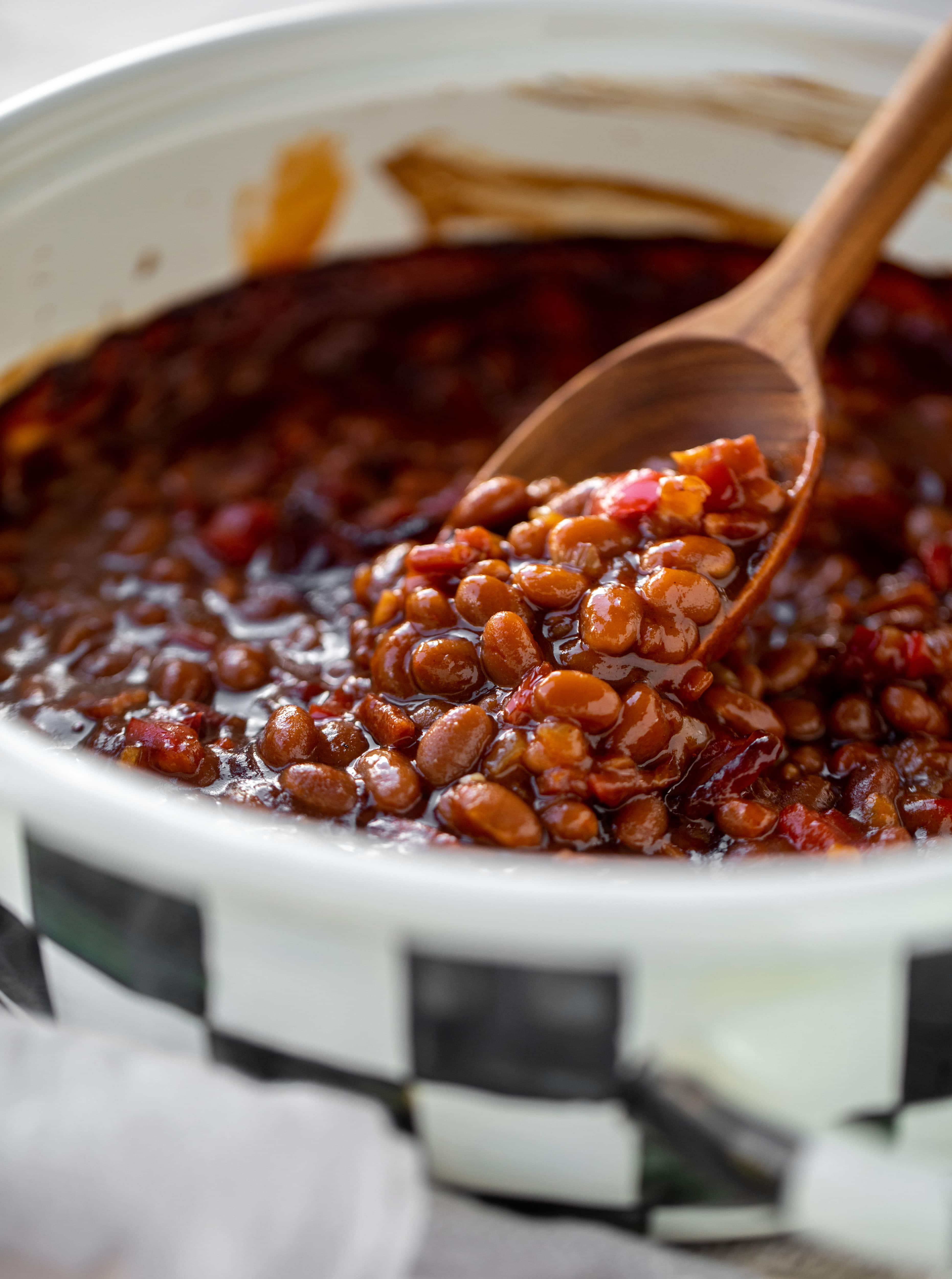 baked beans ready for the oven