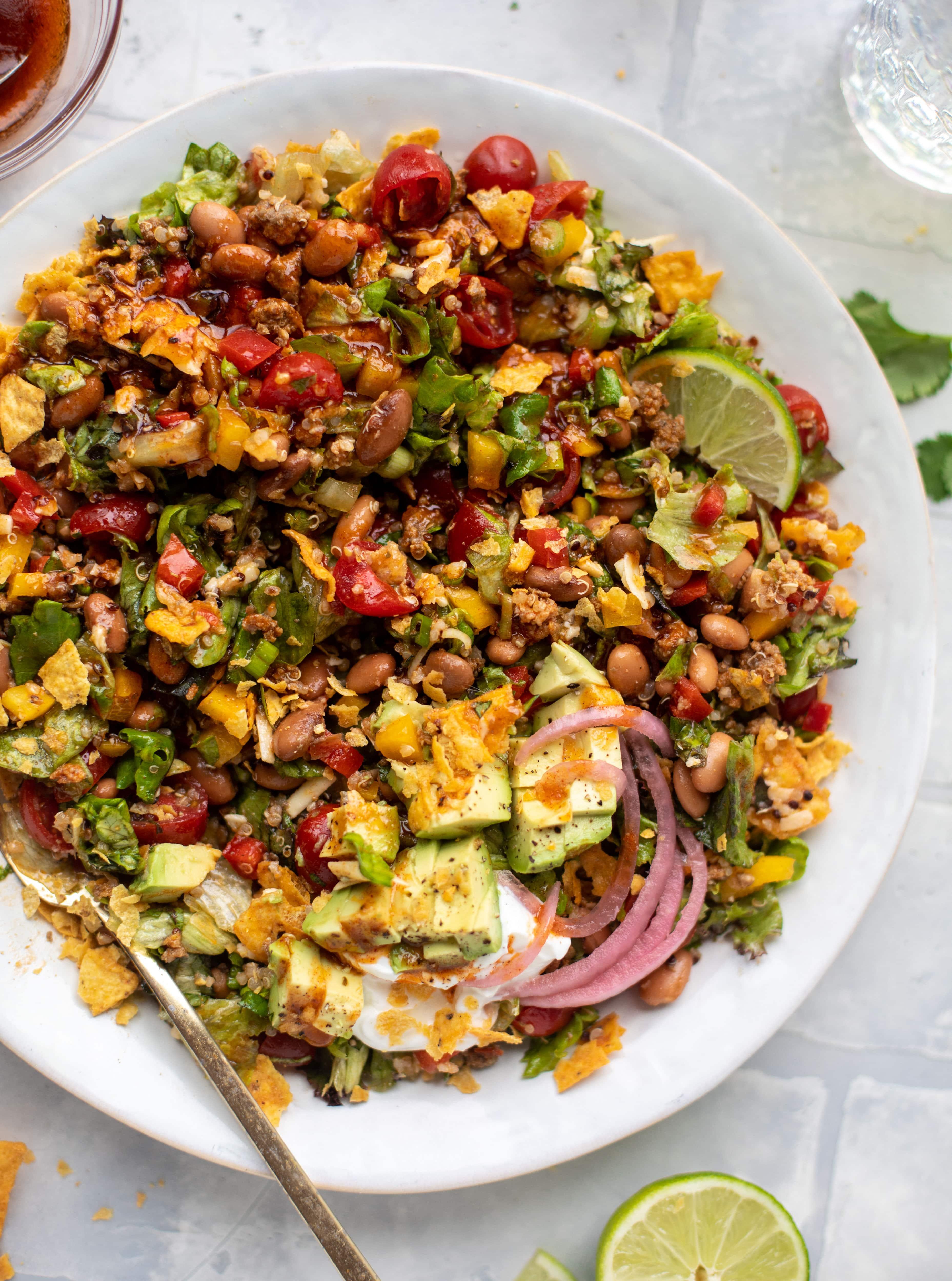 nacho cheese taco quinoa salad