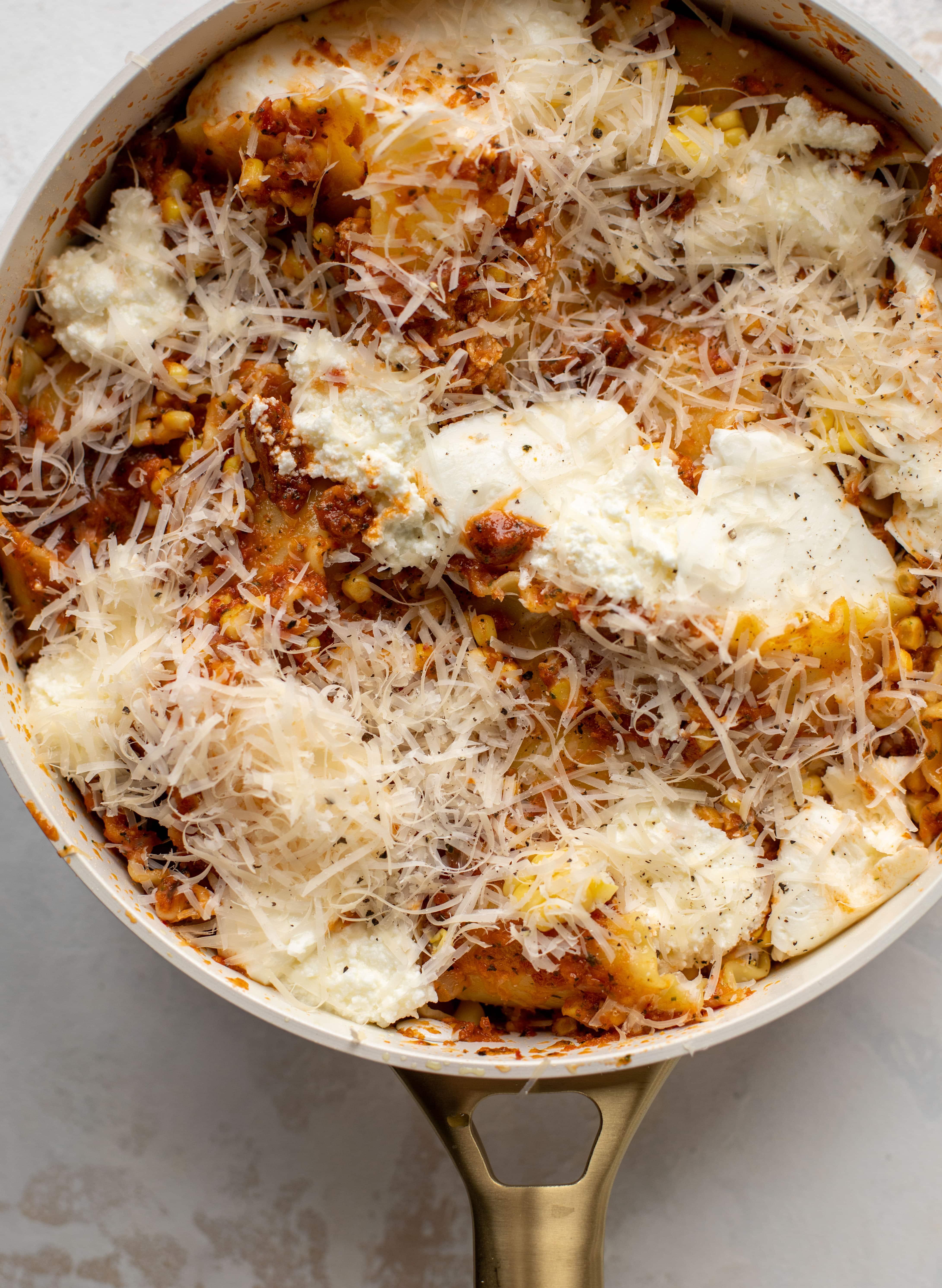 summer skillet lasagna