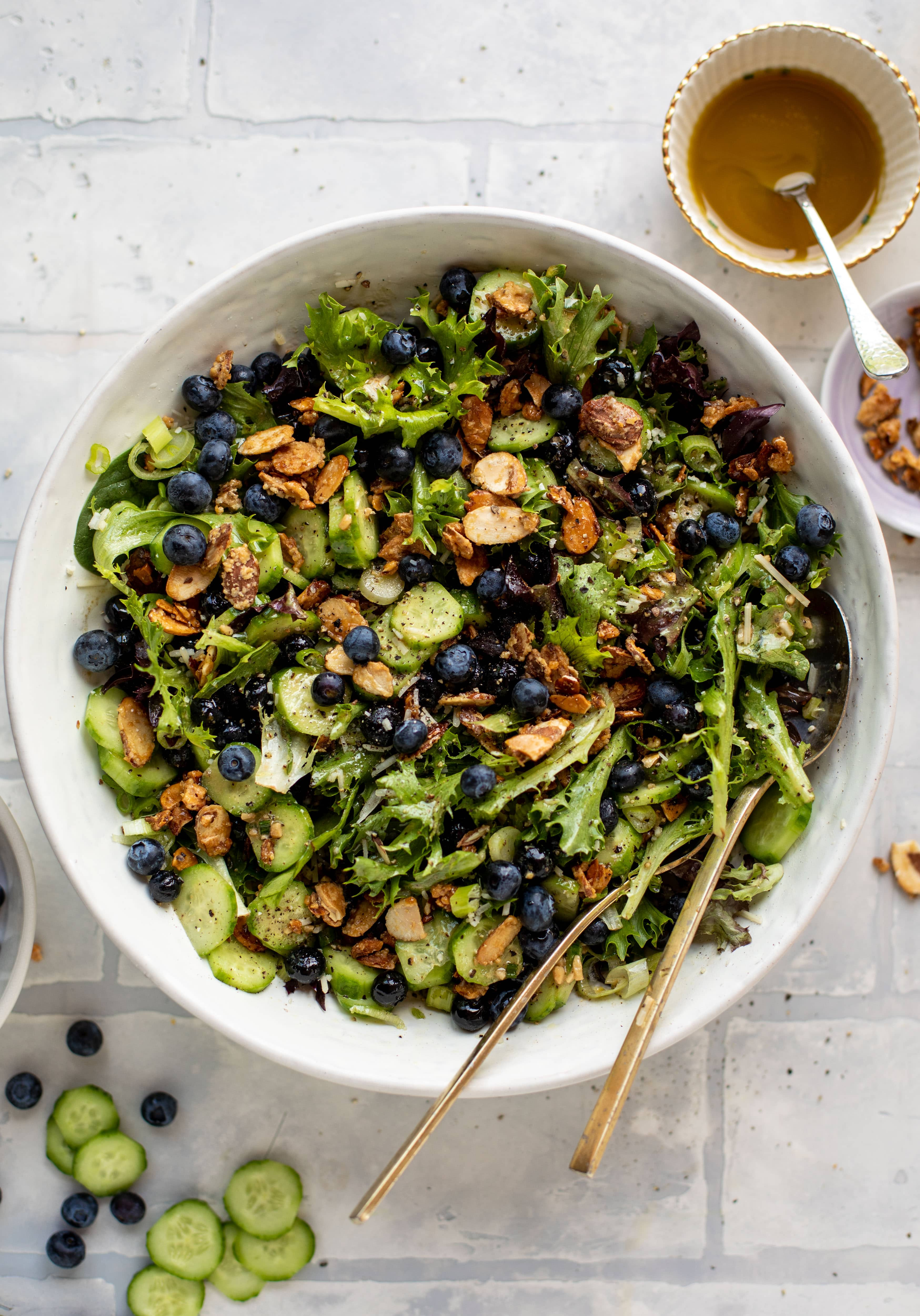 blueberry cucumber summer salad