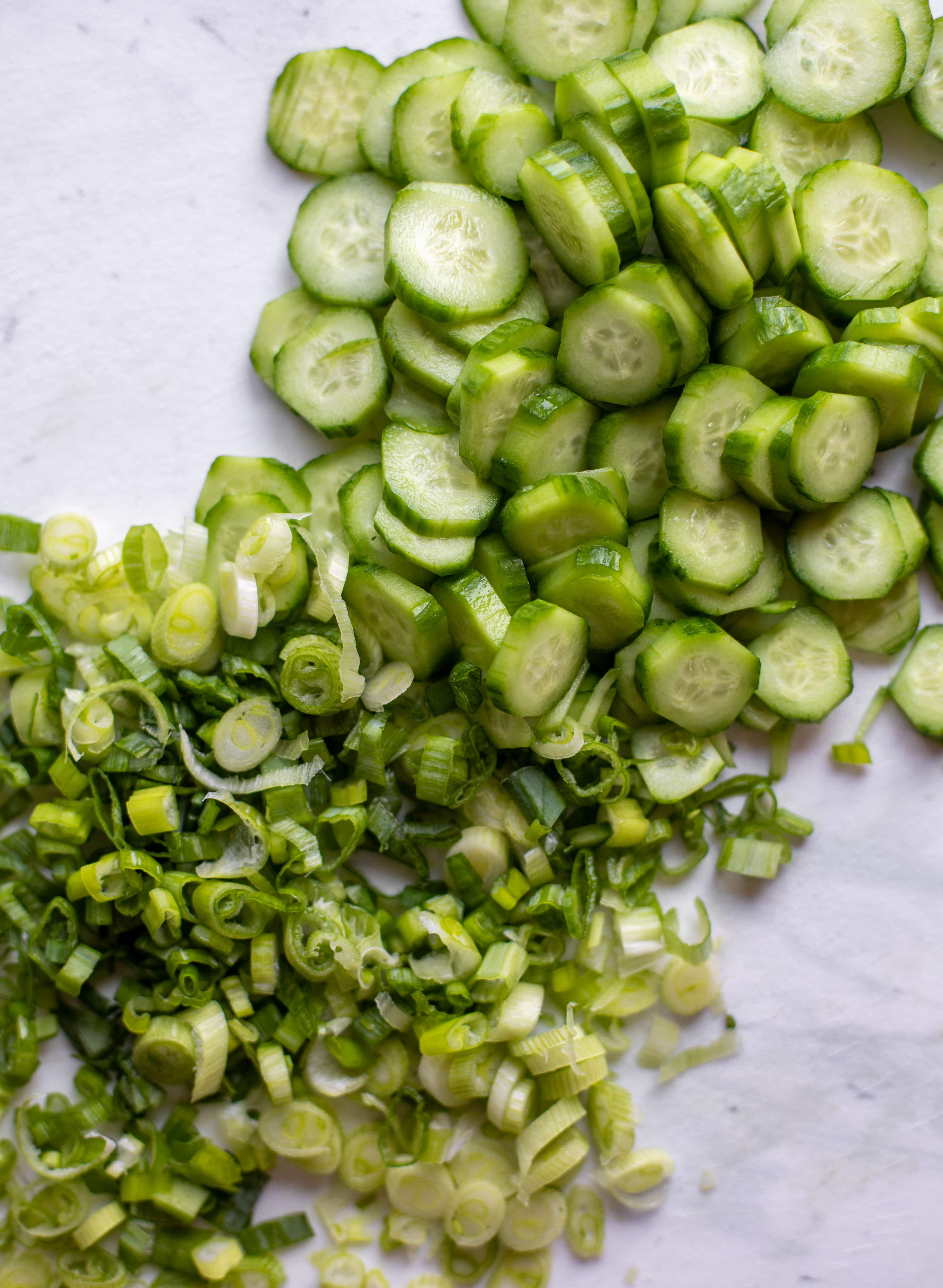 cucumbers and scallions