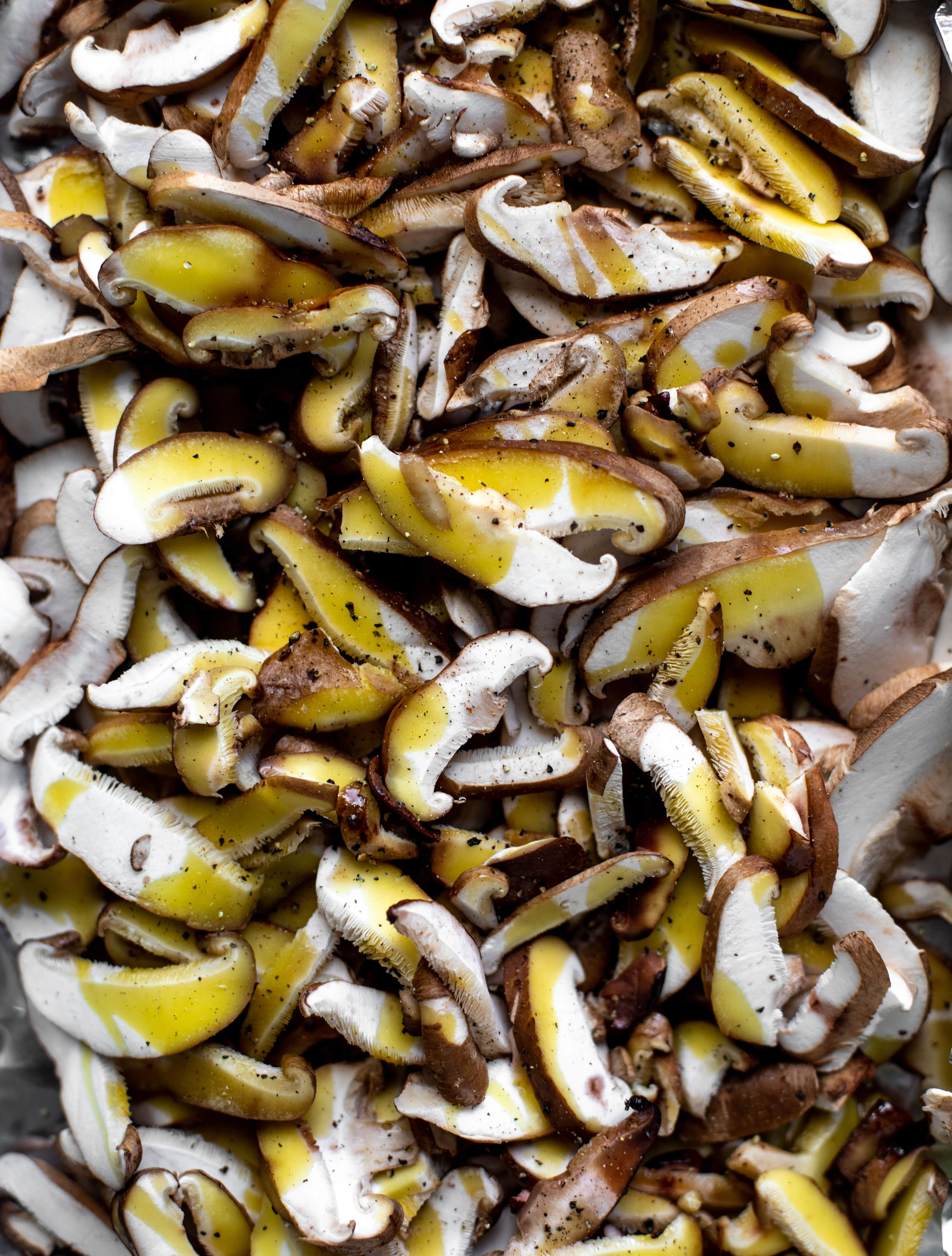 mushrooms with olive oil