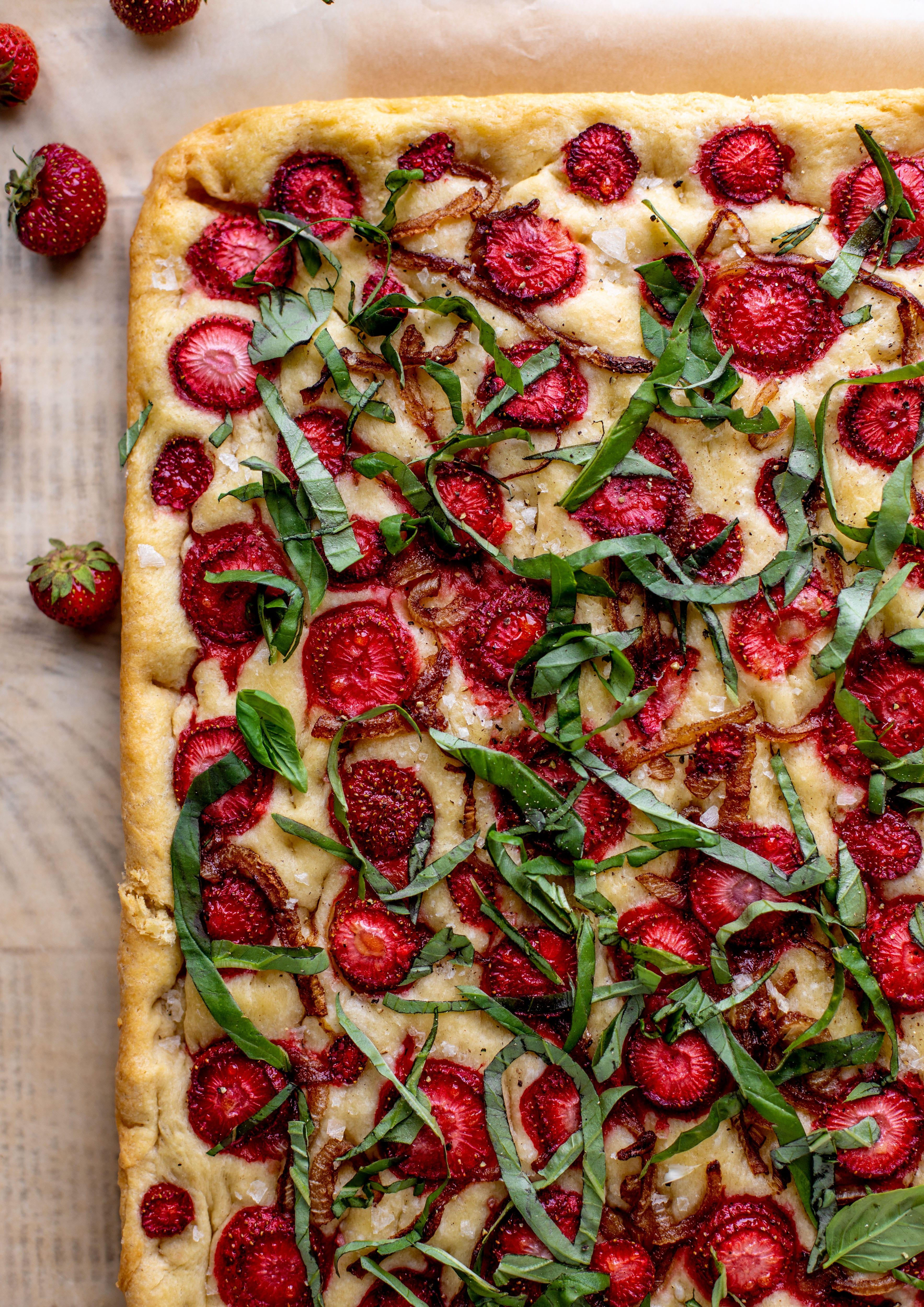 strawberry basil focaccia