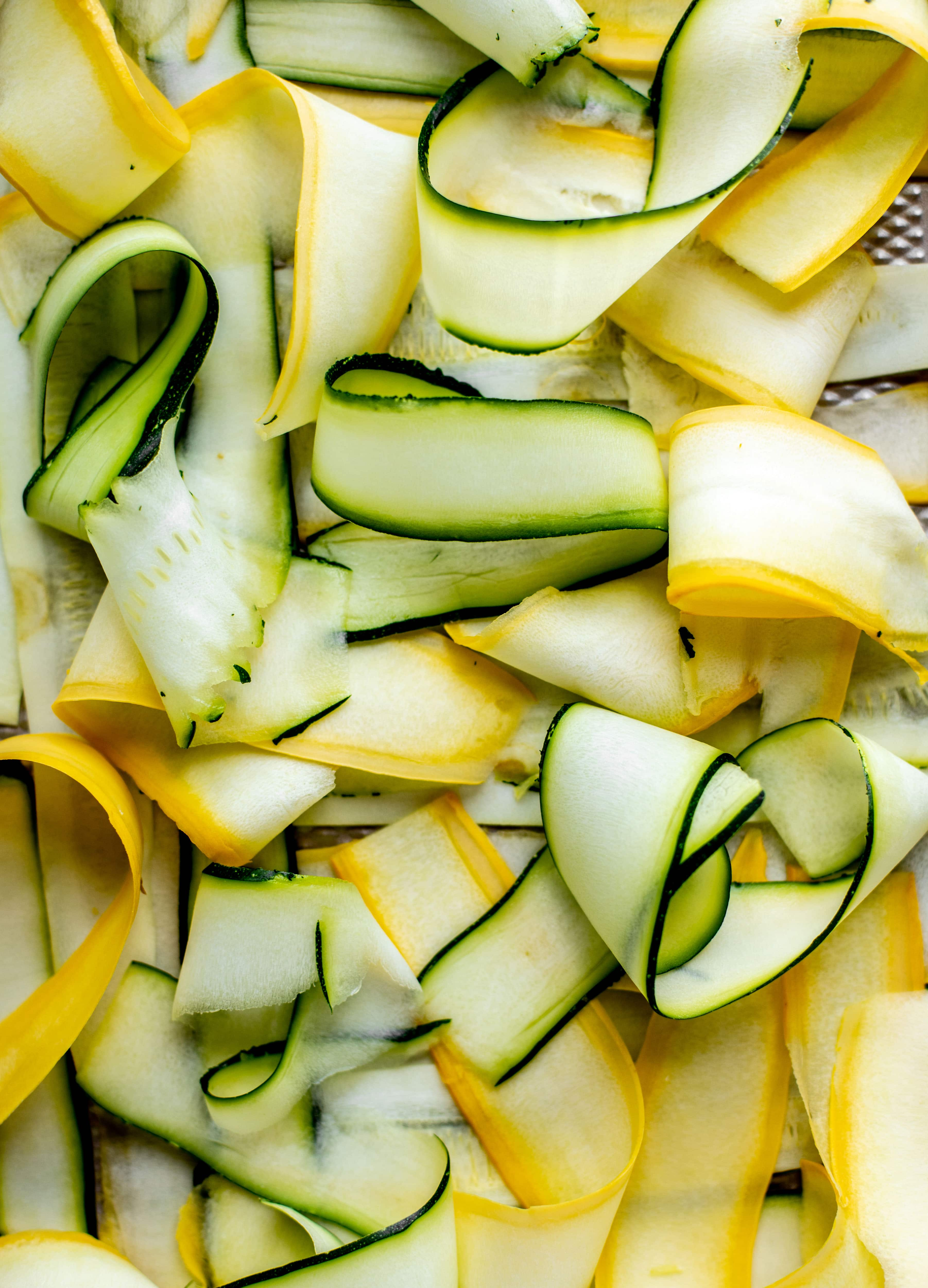 zucchini and summer squash ribbons