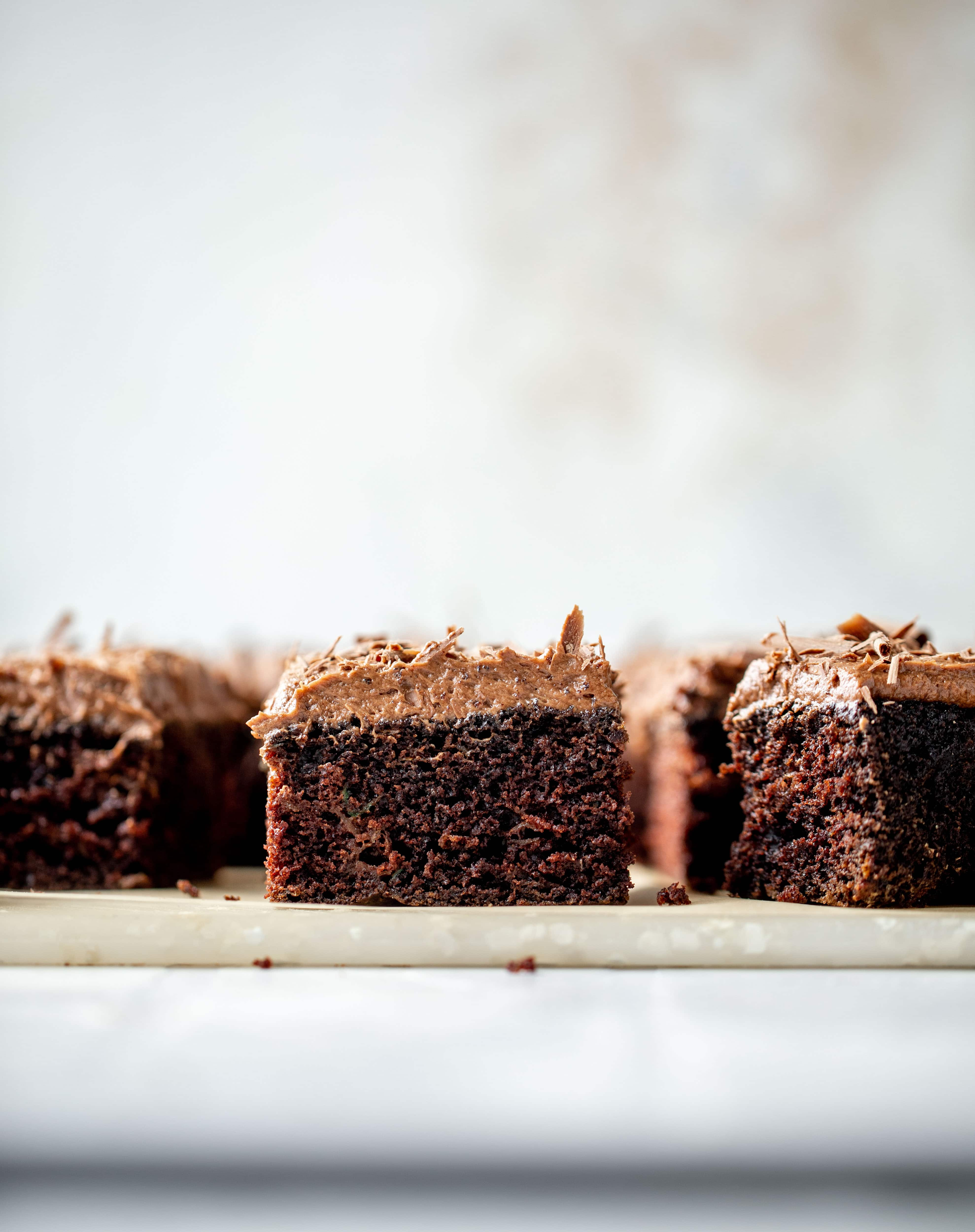 chocolate zucchini cake with chocolate cream cheese frosting