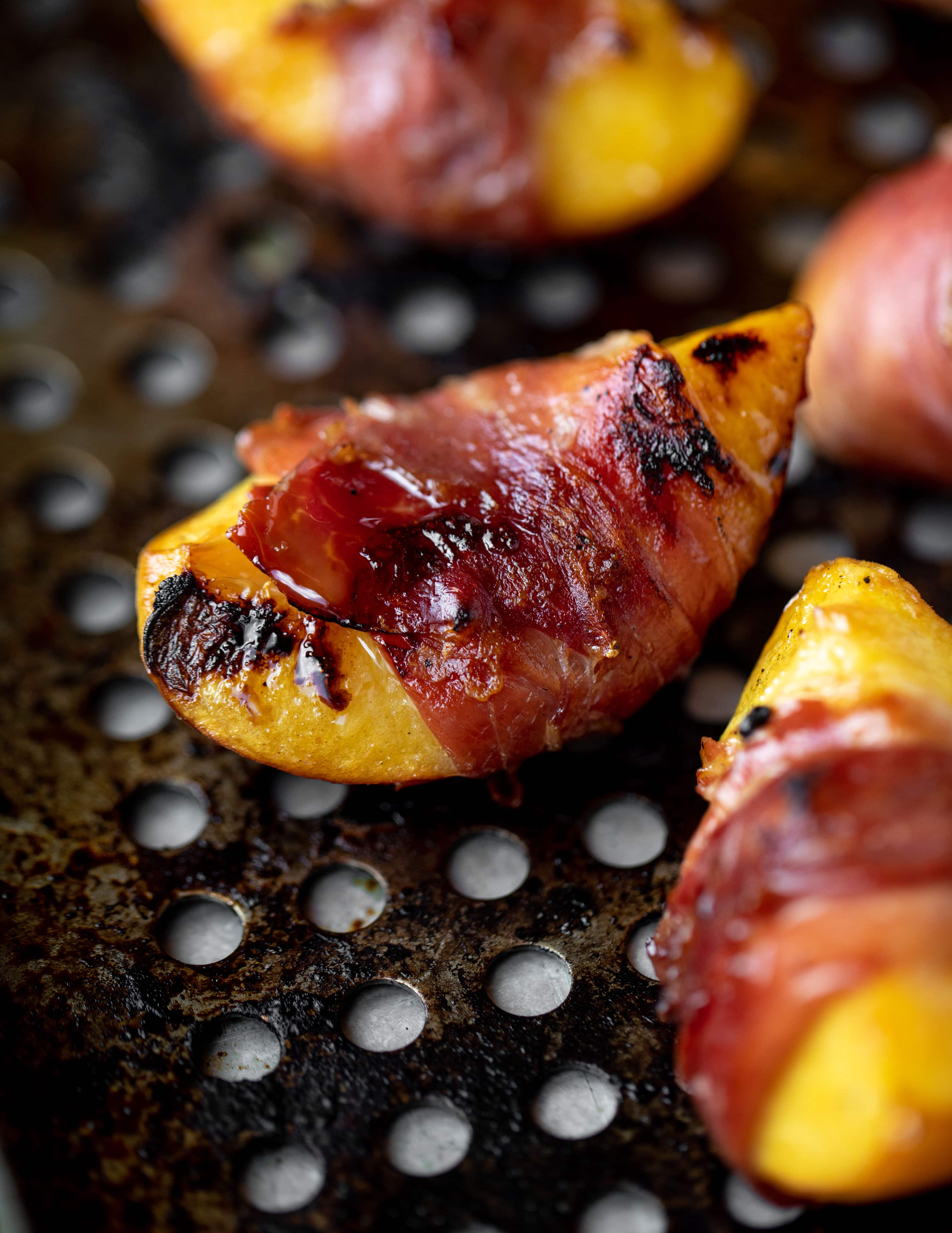 crispy prosciutto wrapped peaches
