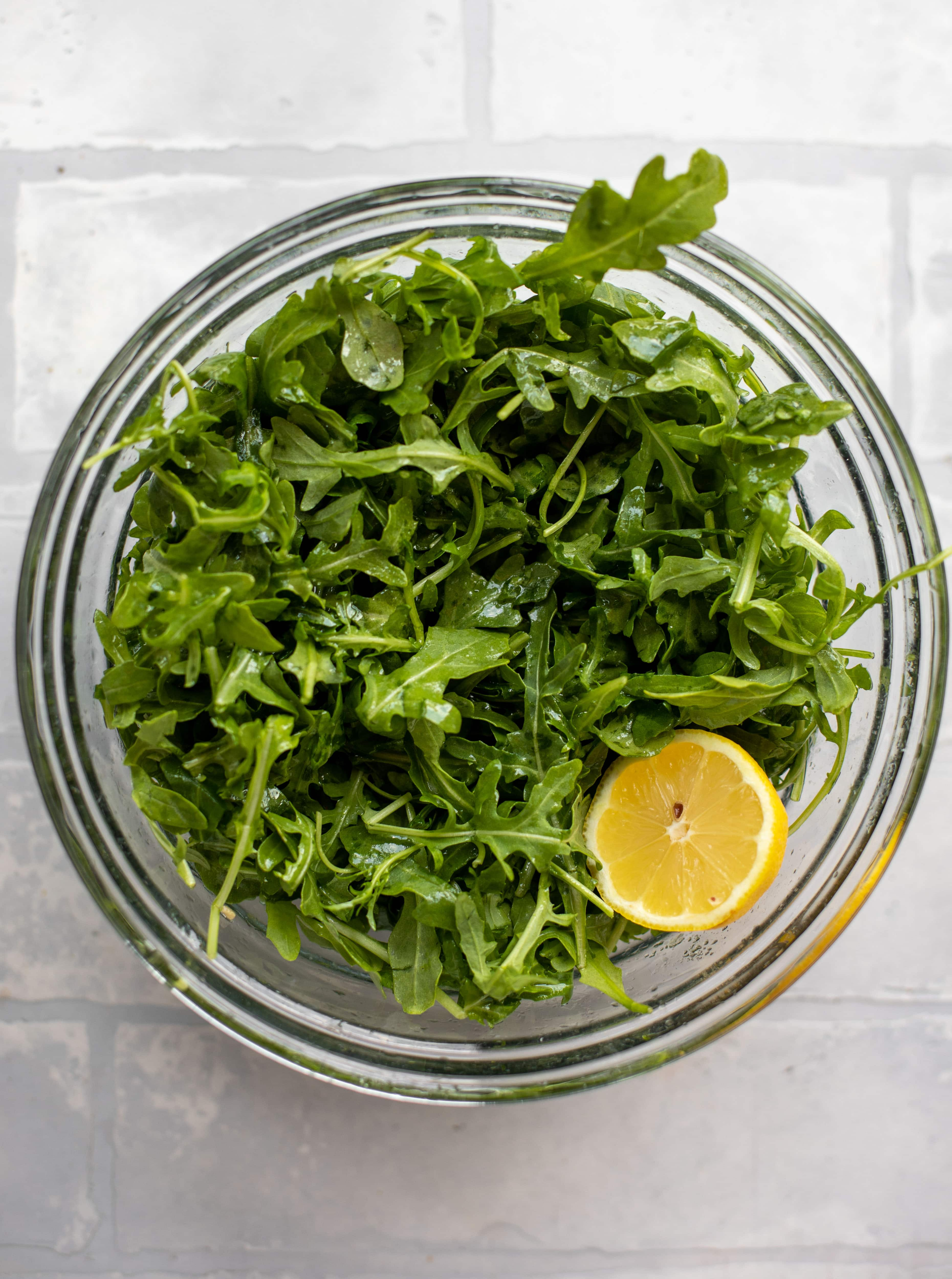 arugula and fresh lemon