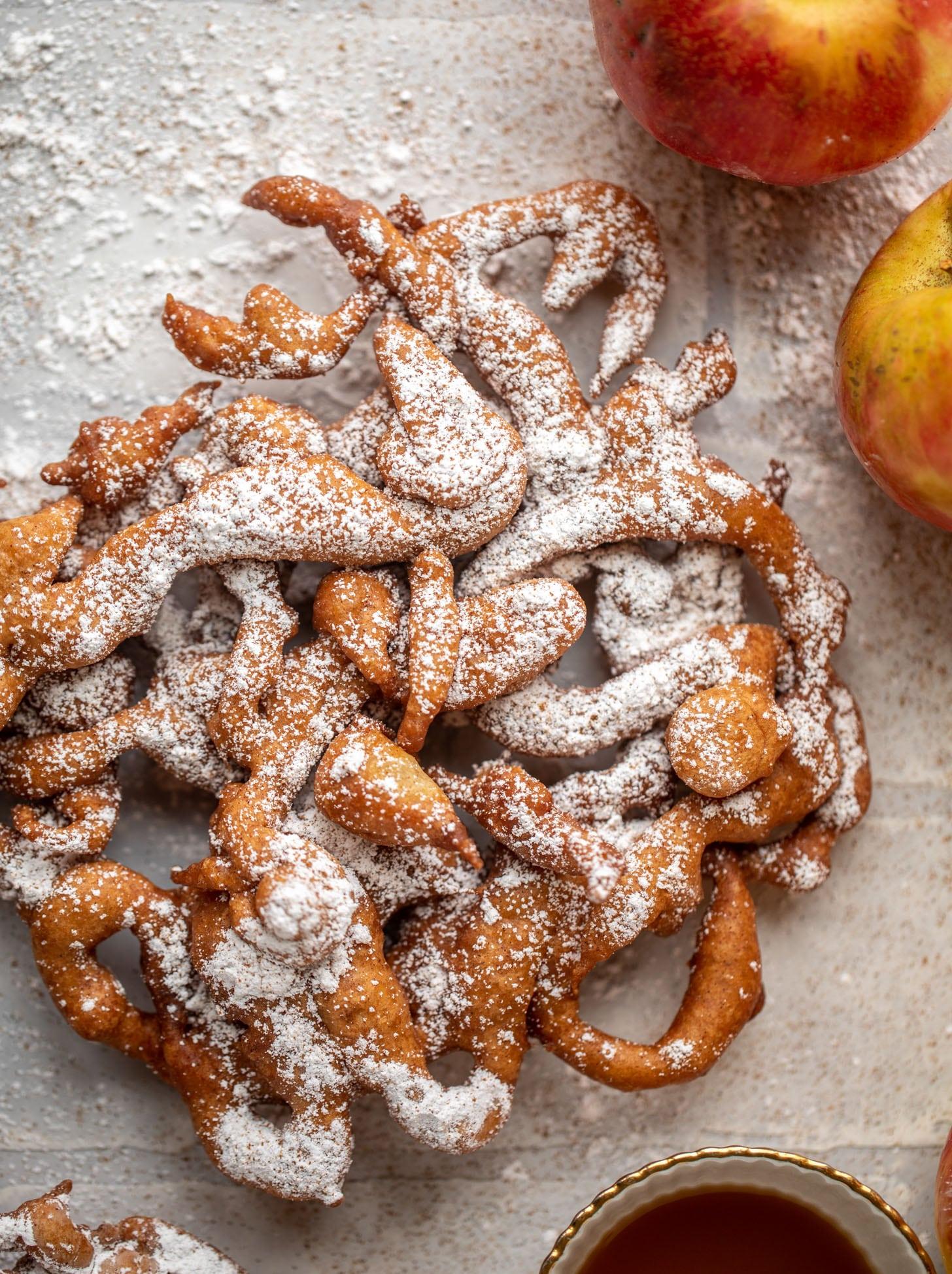 apple cider funnel cakes