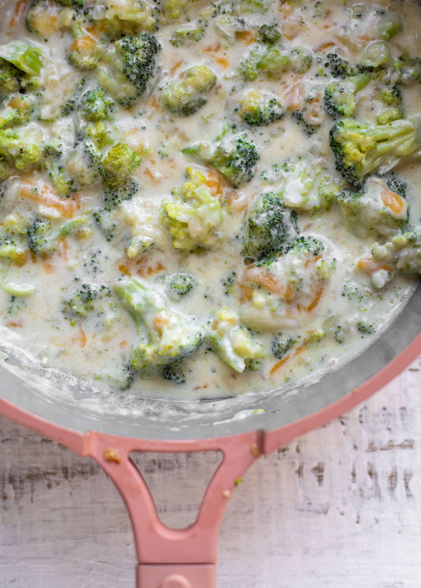 cheesy melty broccoli cheddar