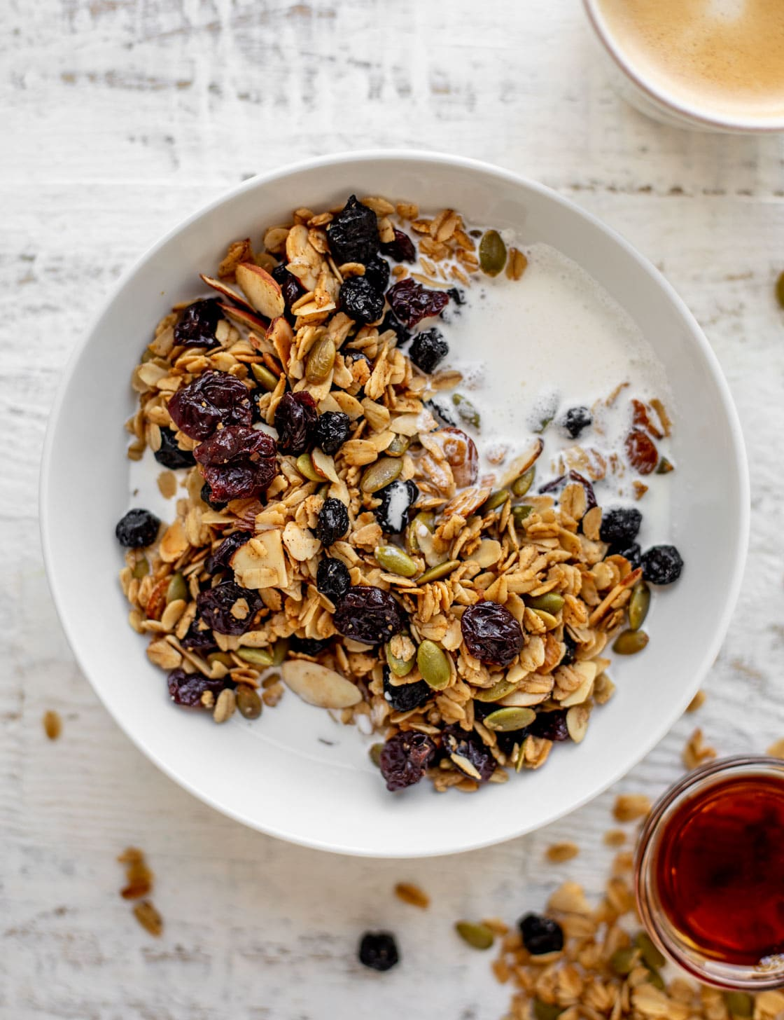 salted maple granola