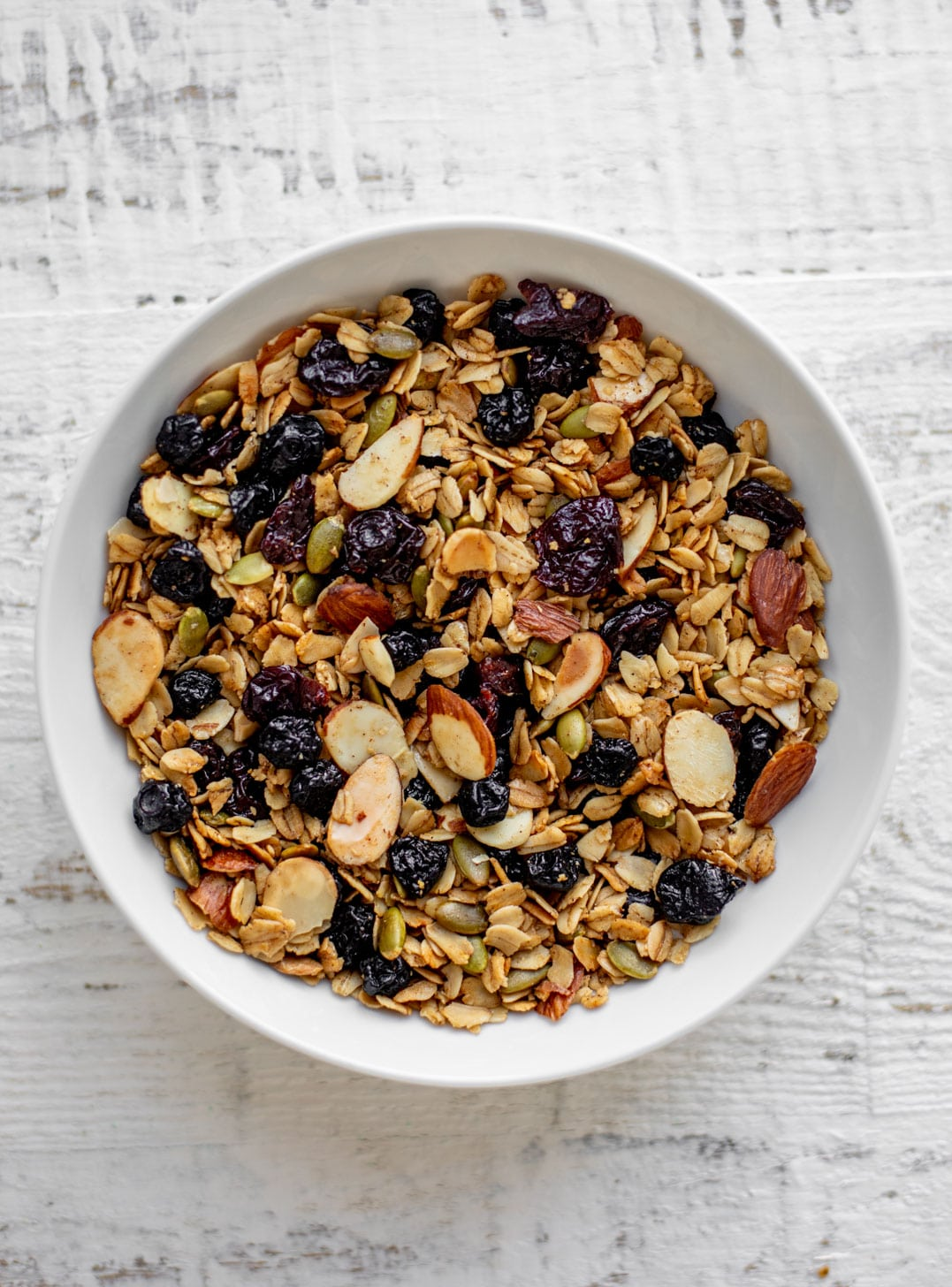 bowl of salted maple granola