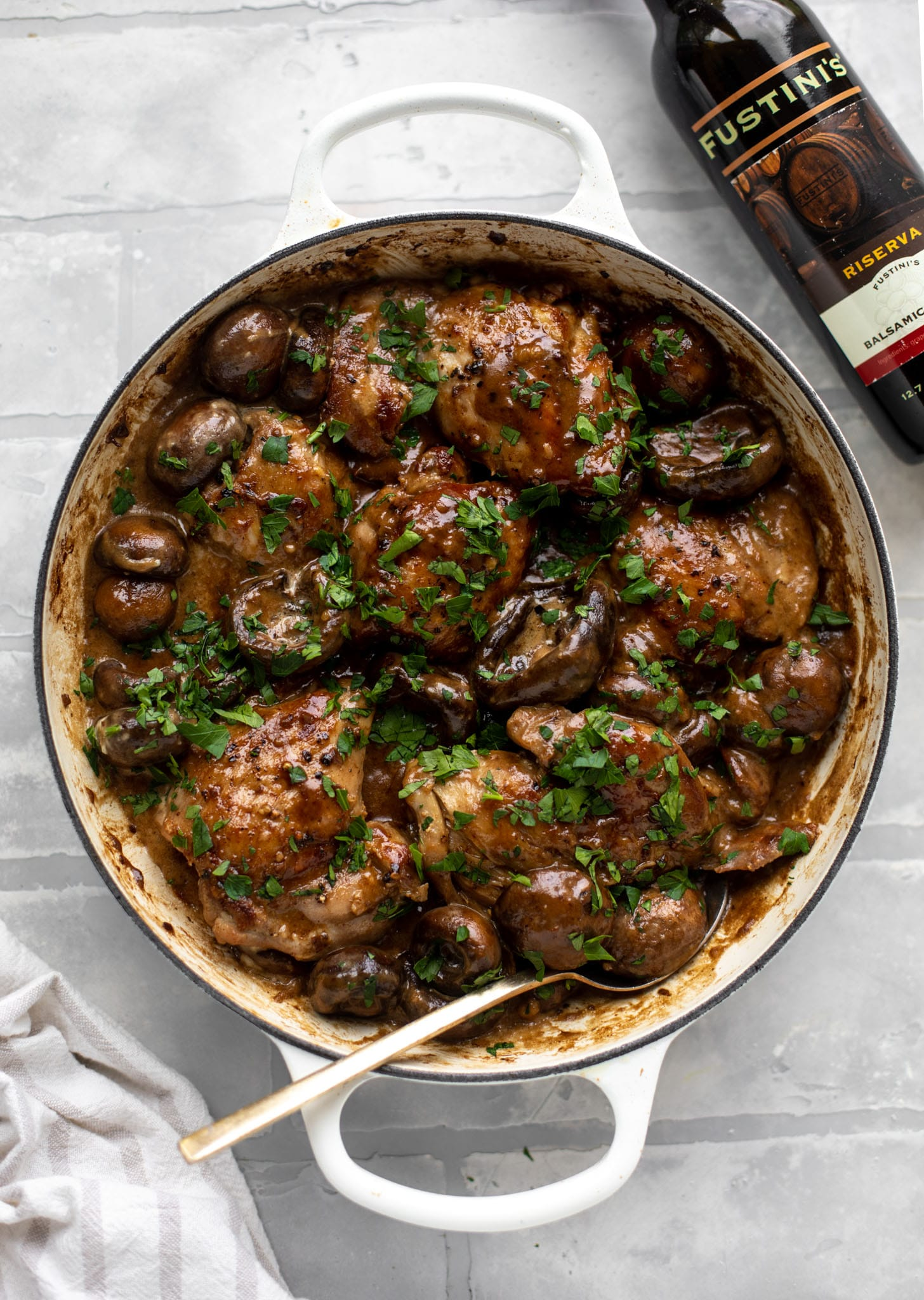creamy balsamic chicken and mushrooms