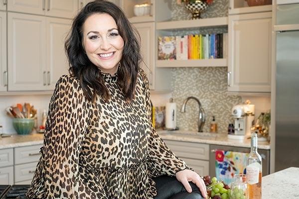 Jessica in a leopard print top