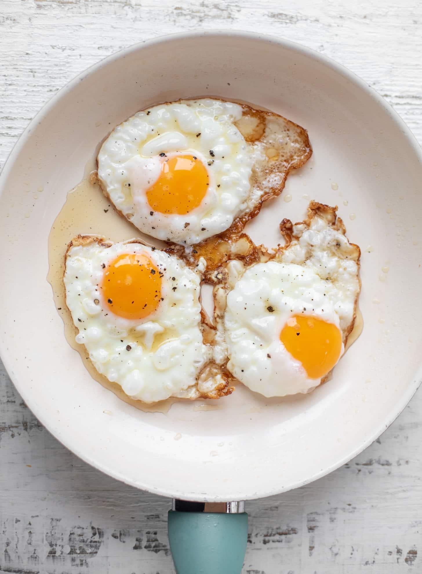 sesame fried eggs