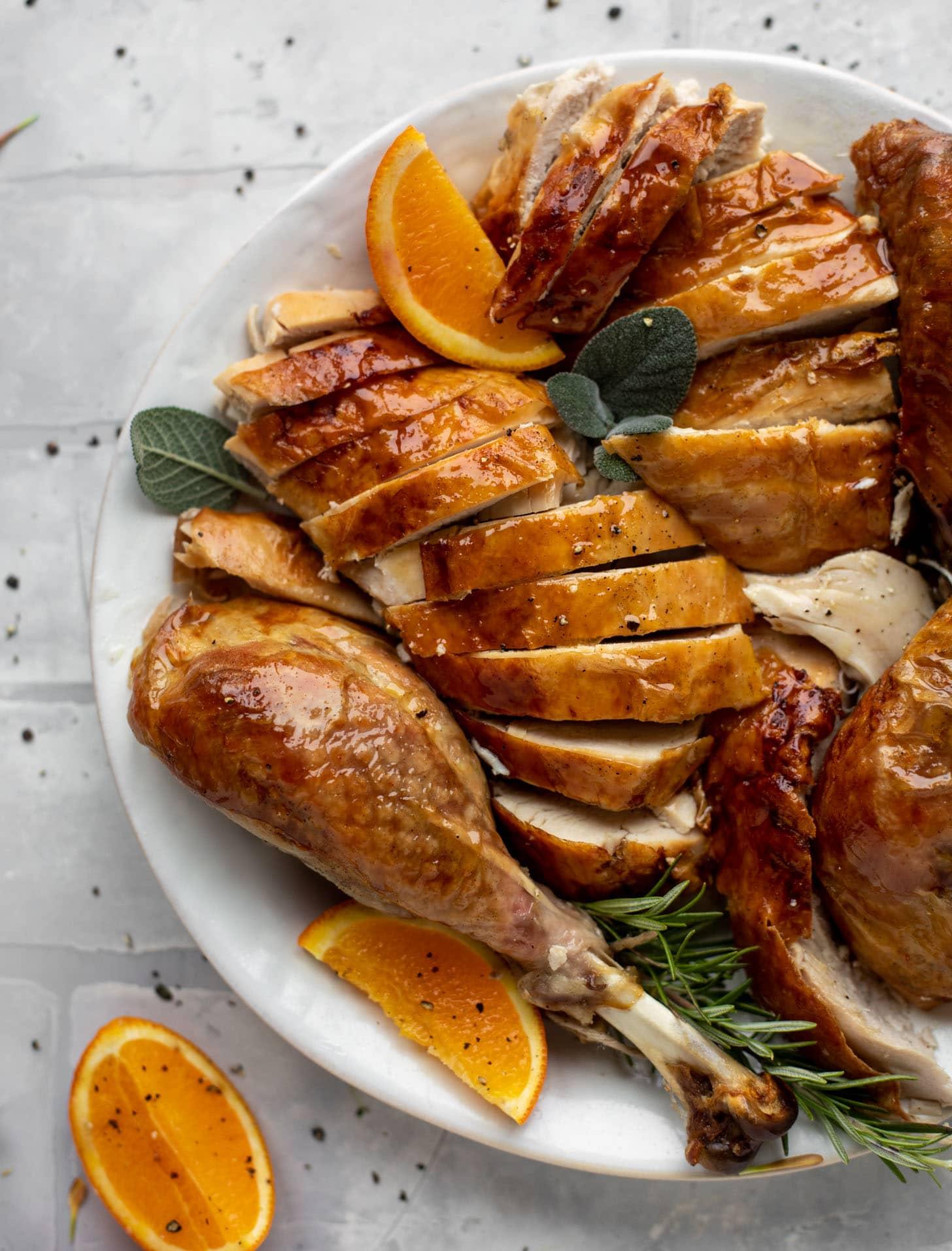 carved citrus sage roasted turkey recipe