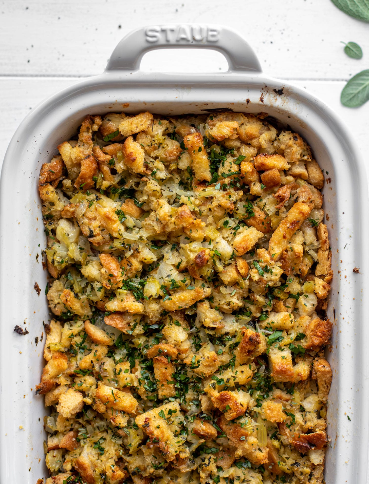 our favorite buttery herb stuffing for thanksgiving