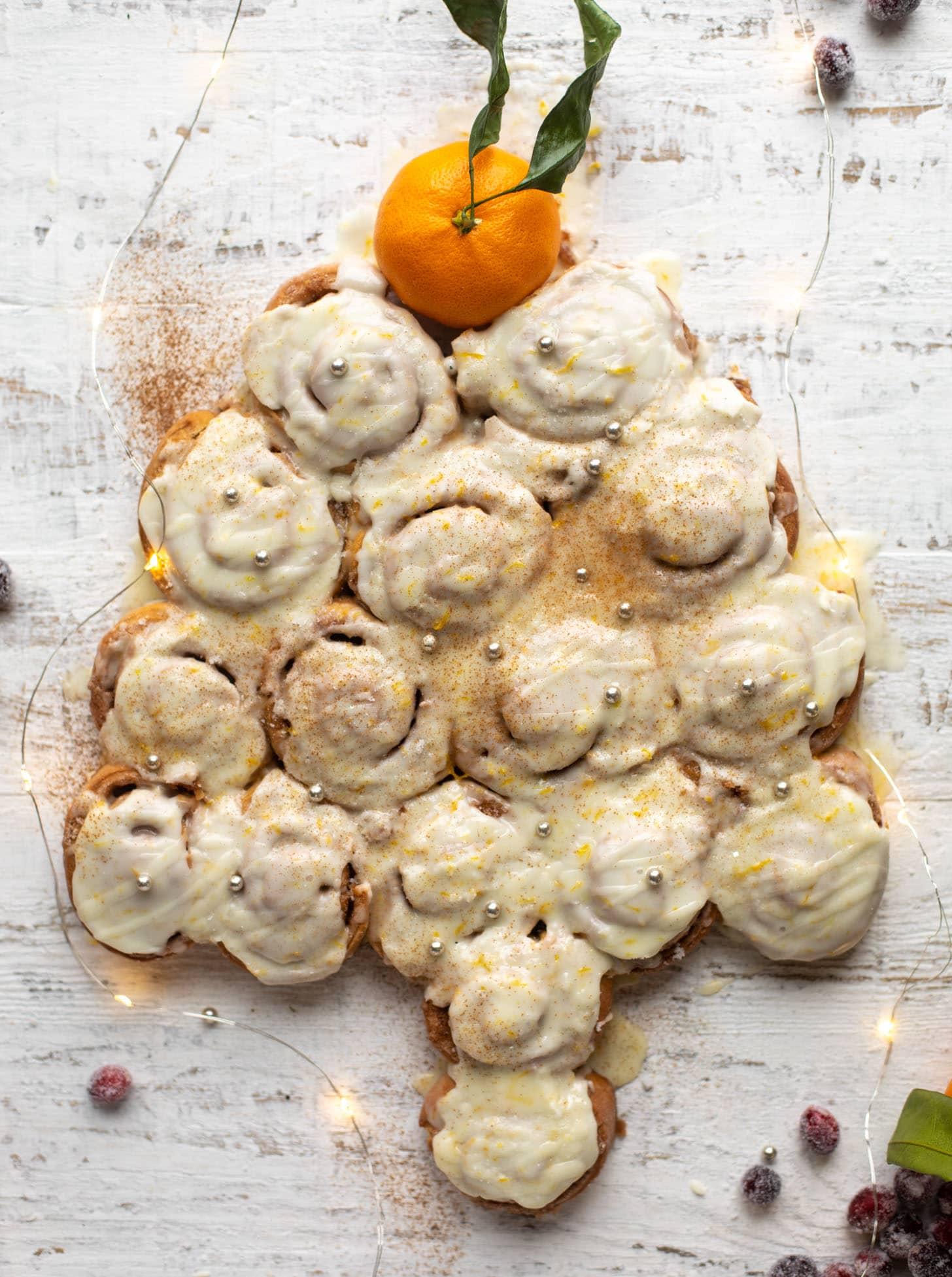 one hour cinnamon orange rolls