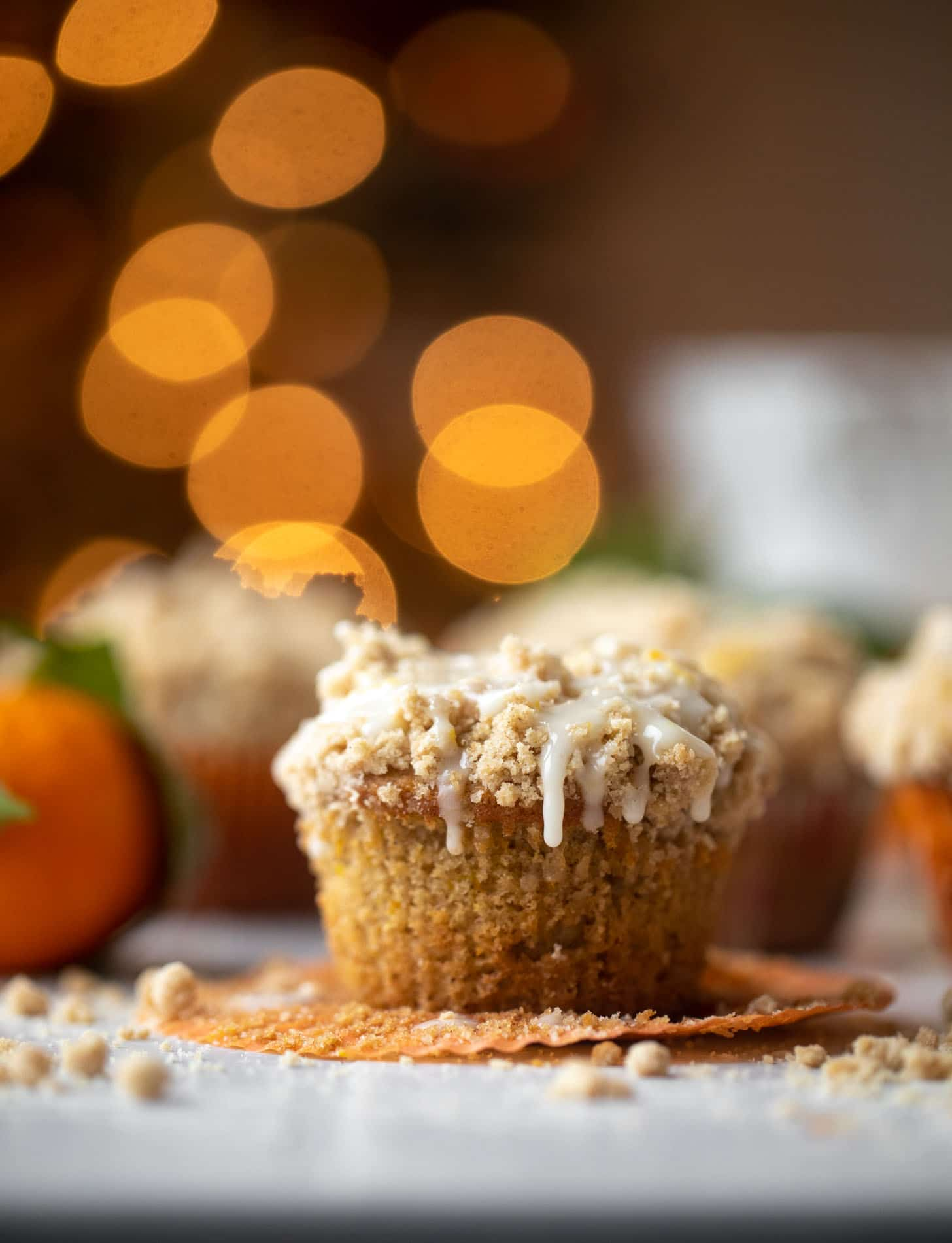 orange cinnamon coffee cake muffins