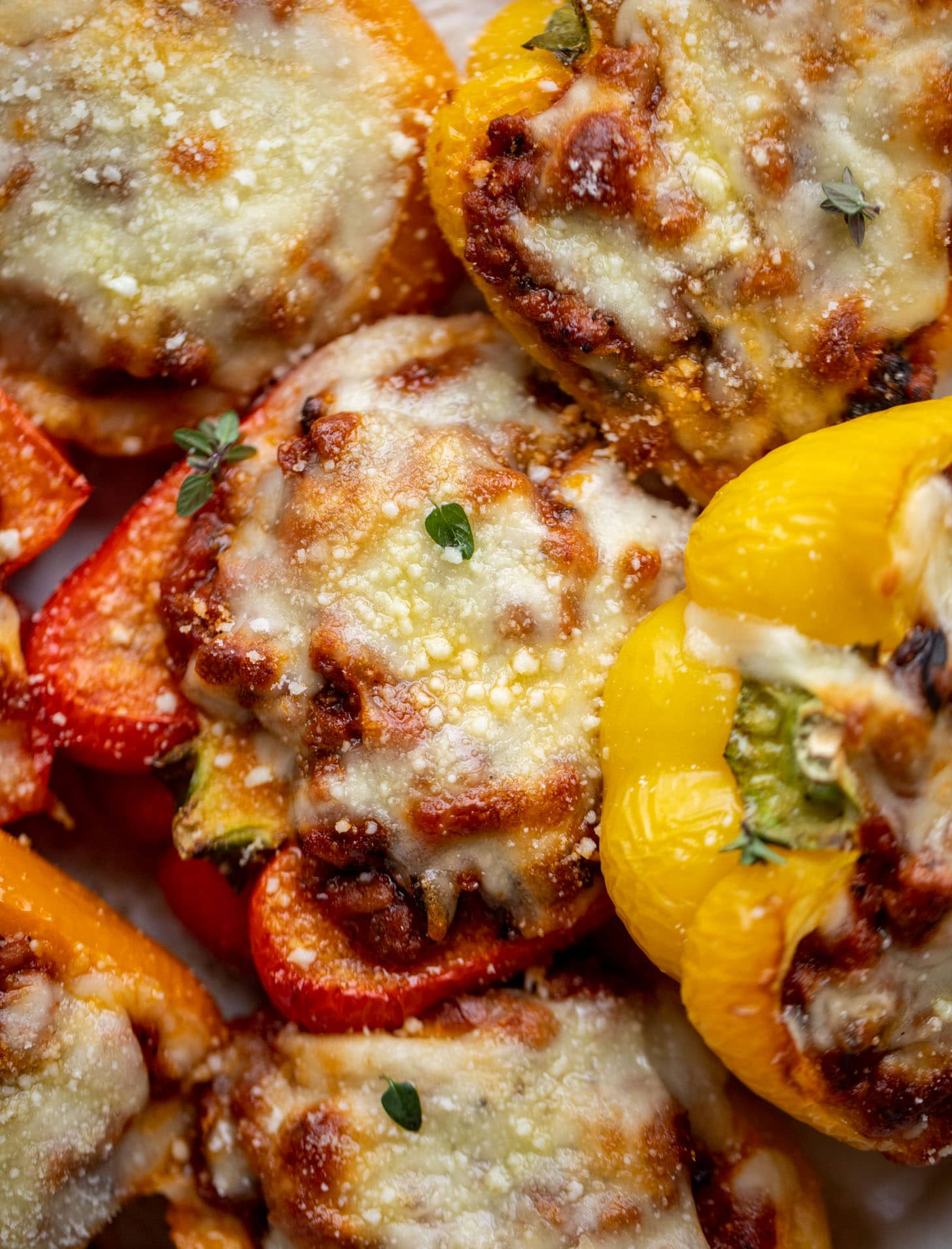 bolognese stuffed peppers