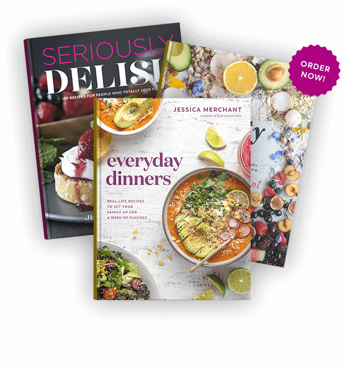 Everyday Dinners, Seriously Delish & The Pretty Dish book covers