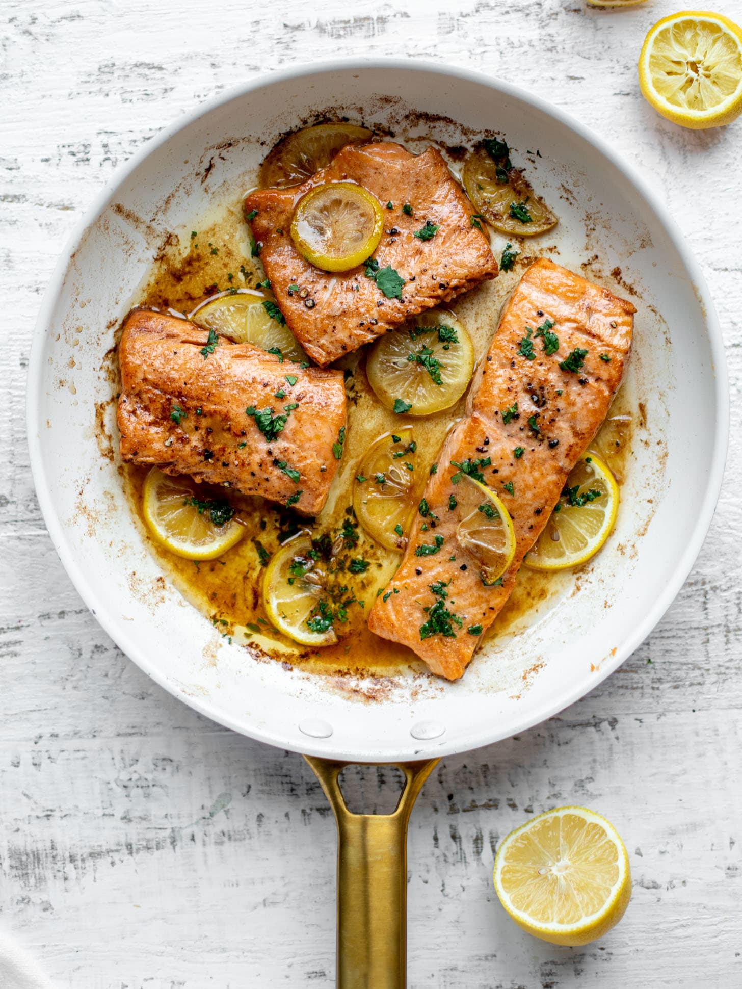 lemon brown butter salmon