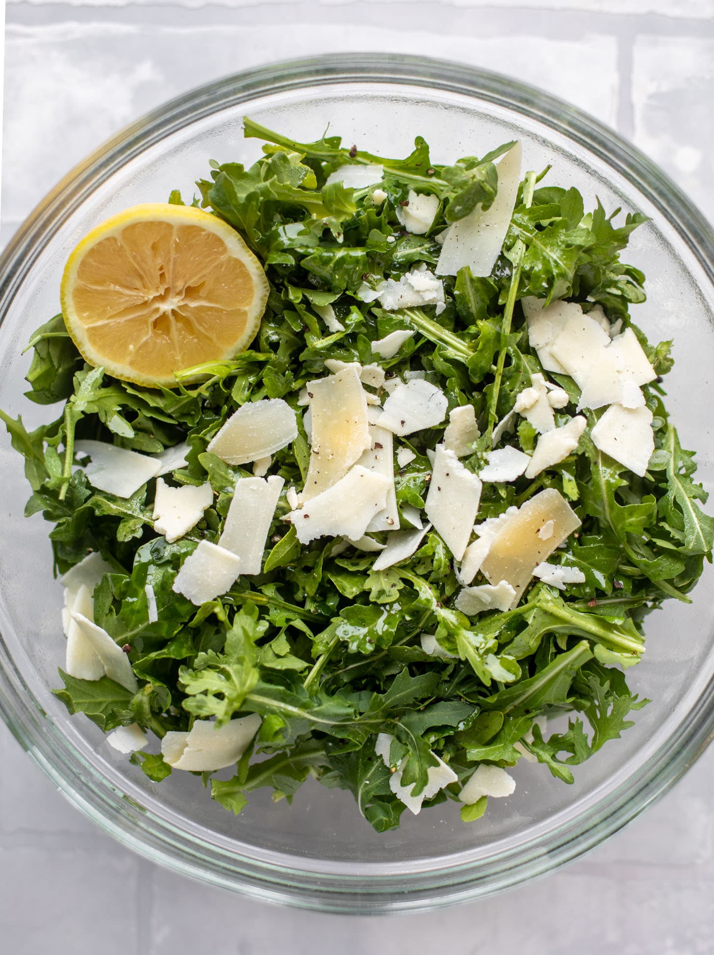 lemon arugula with parmesan