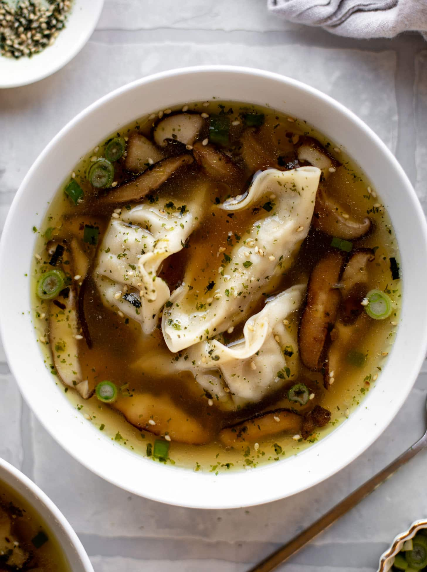 super easy potsticker soup