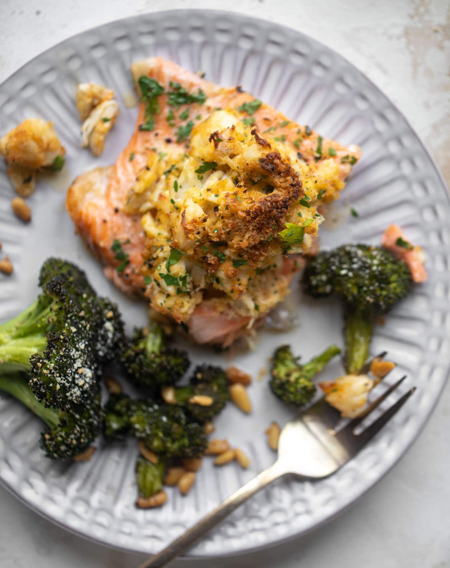crab topped salmon and 23 recipes for lent
