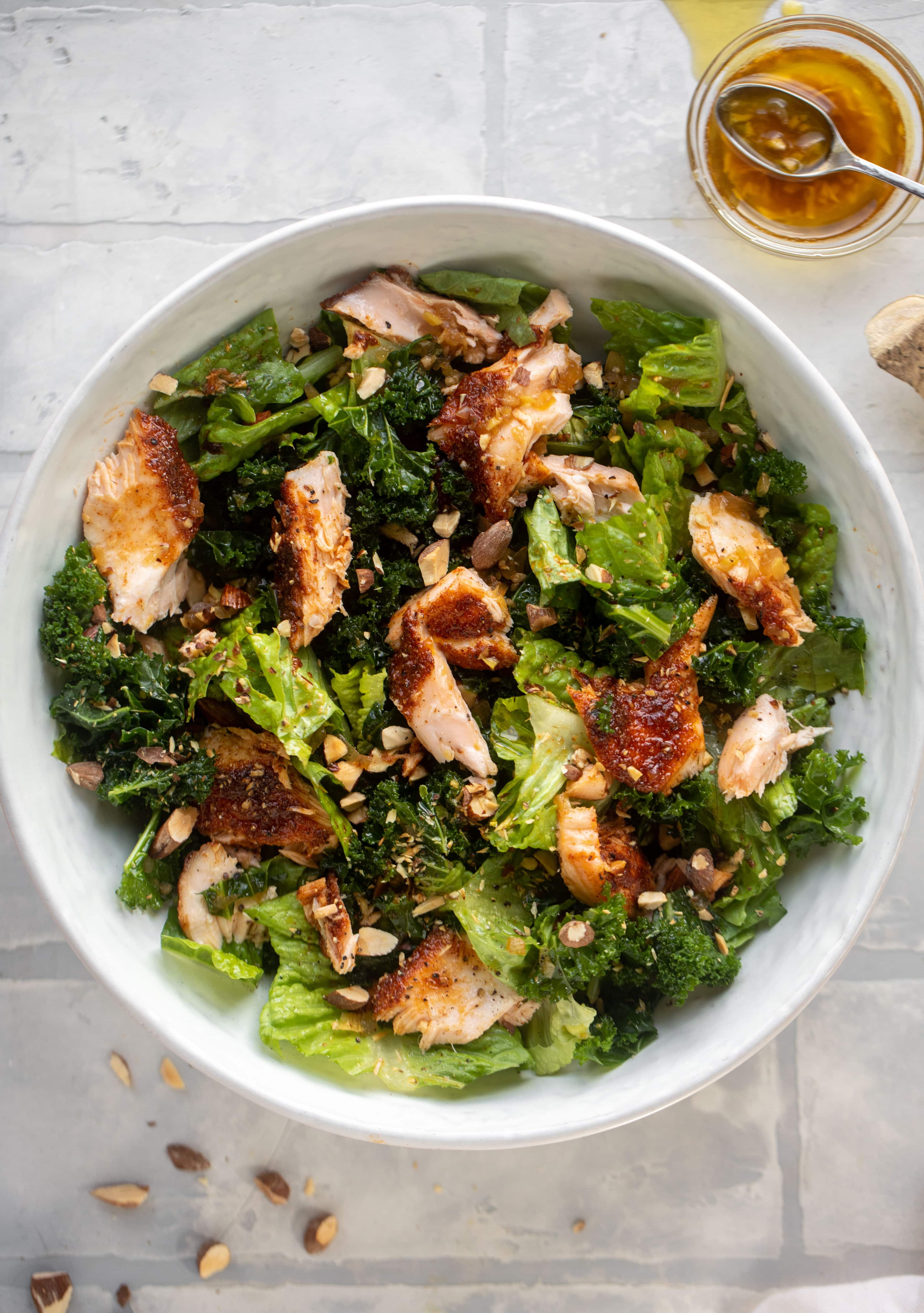 hot ginger salmon salad and 23 recipes for lent