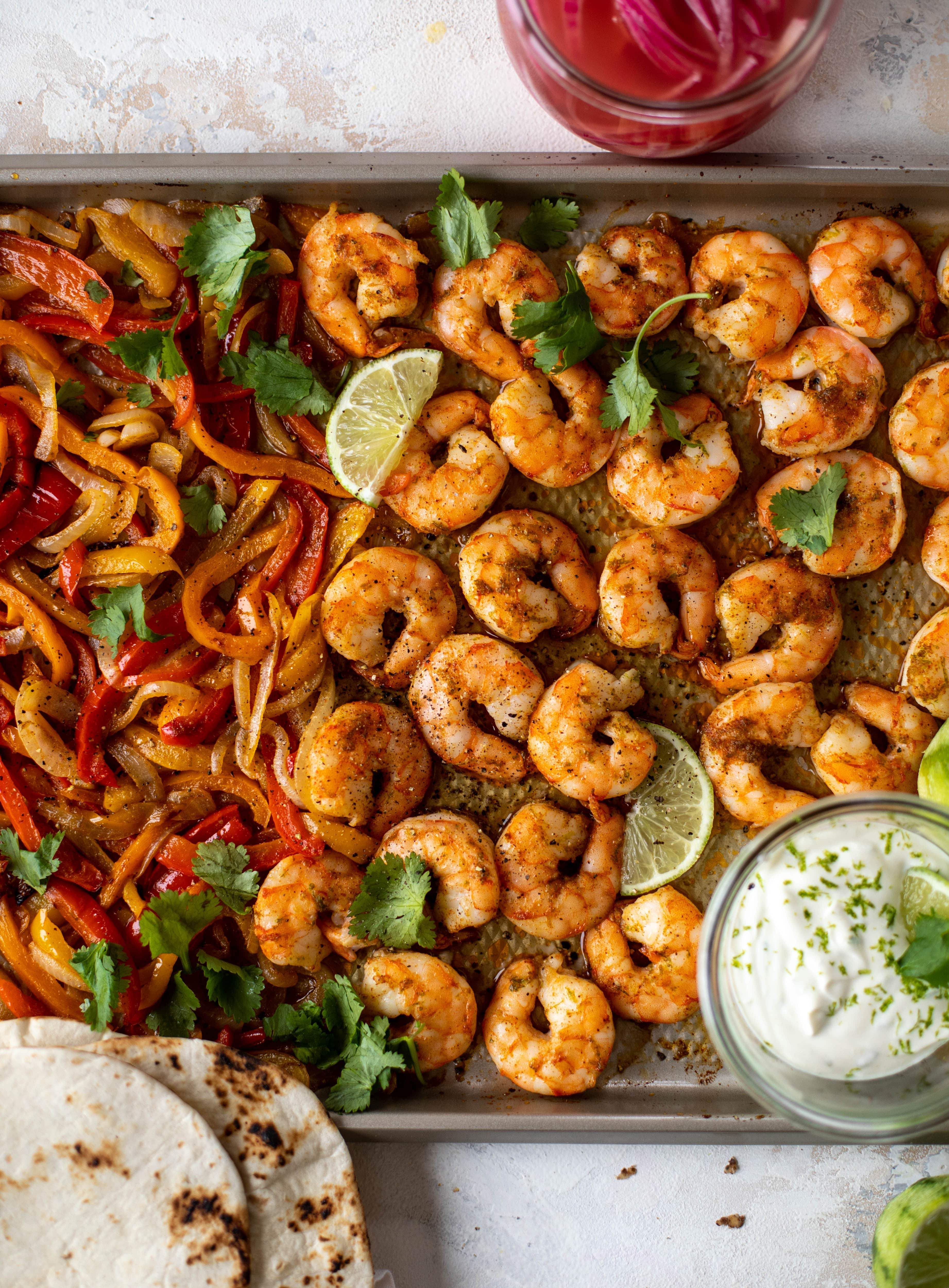 lime sheet pan shrimp fajitas and 23 recipes for lent