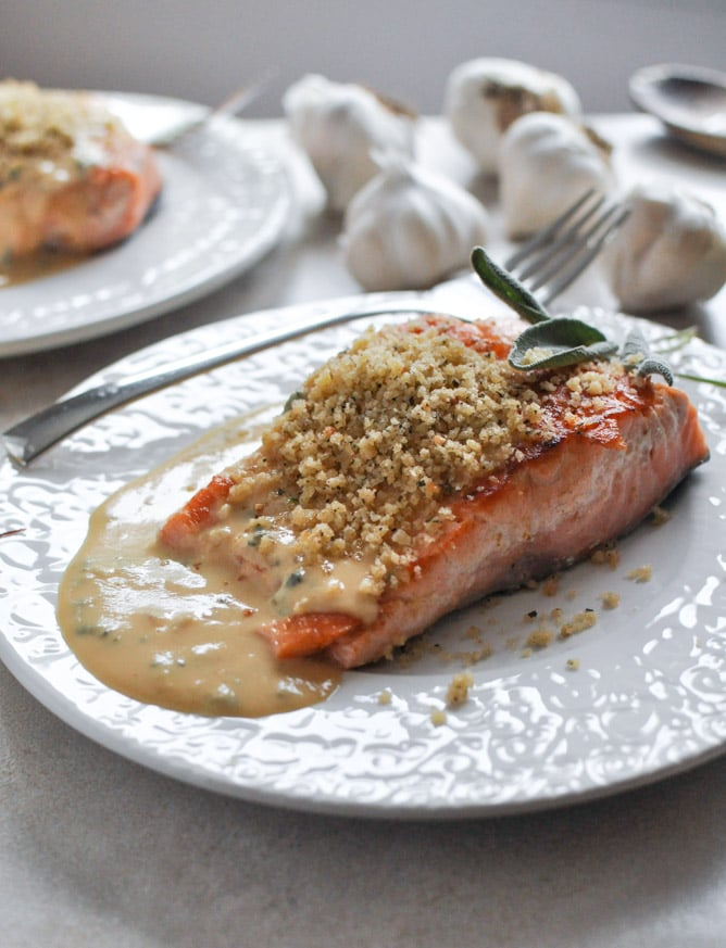 salmon with dijon cream and 23 recipes for lent