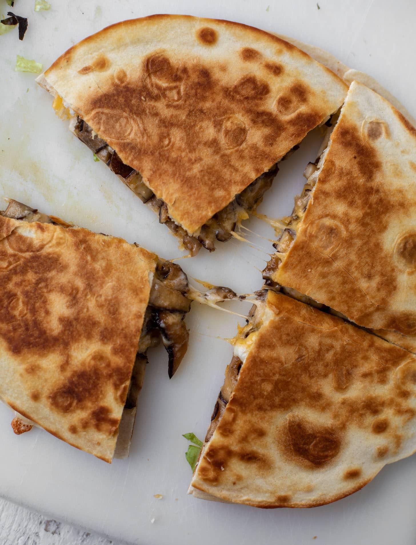 crispy, cheesy quesadilla
