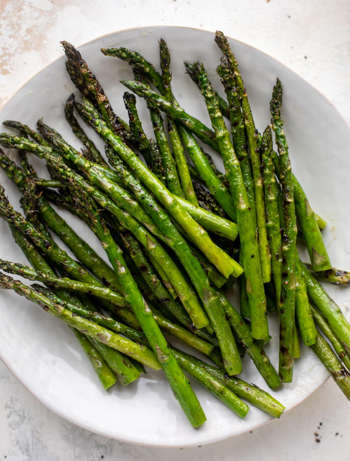 asparagus right off the grill