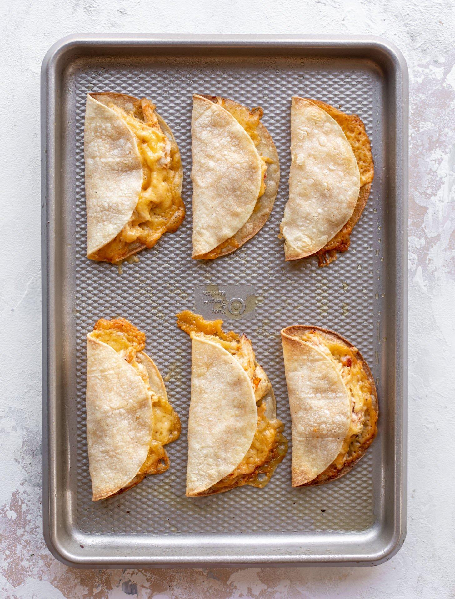 crispy baked salsa chicken tacos