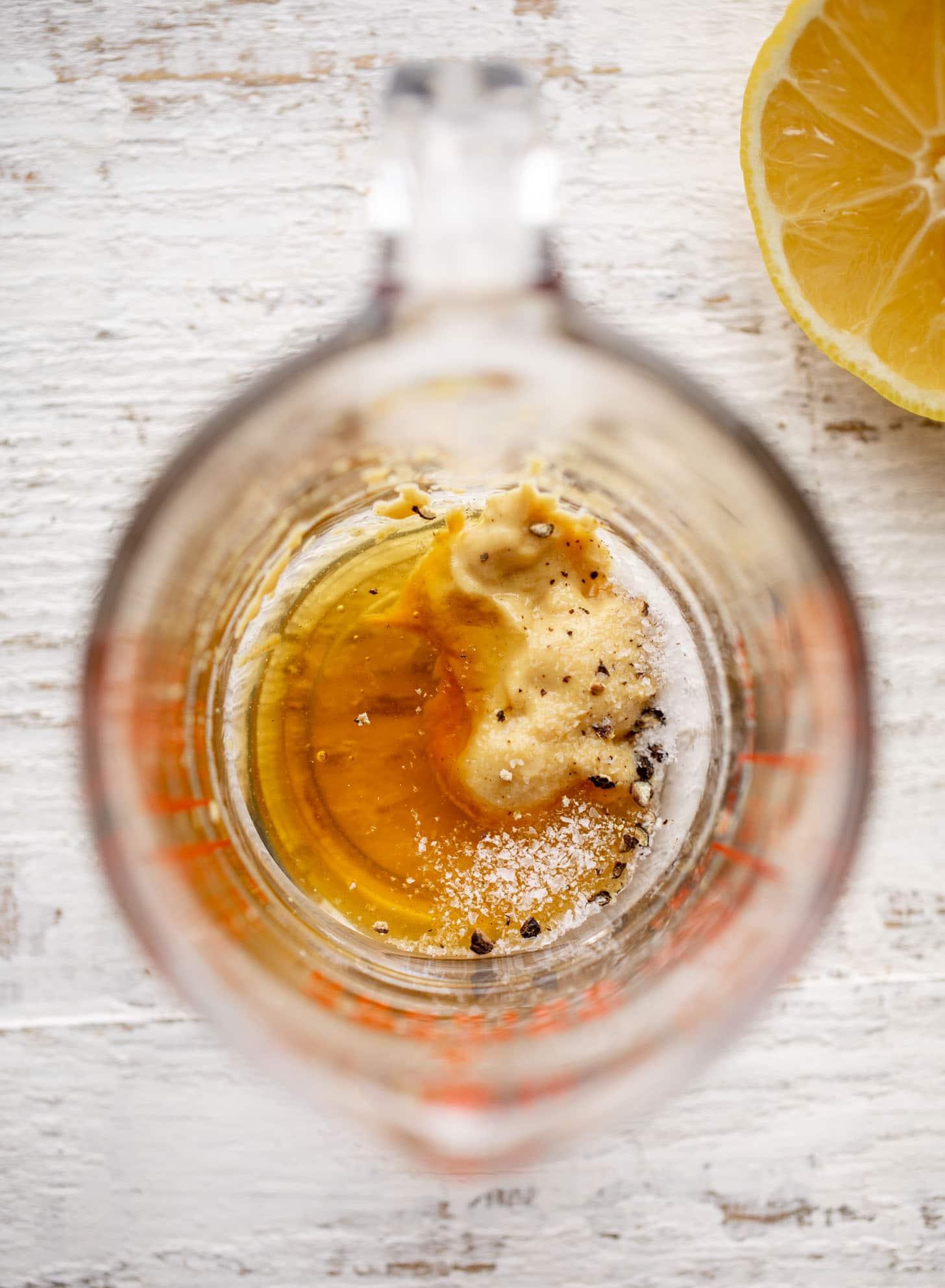 lemon juice, dijon, honey for vinaigrette