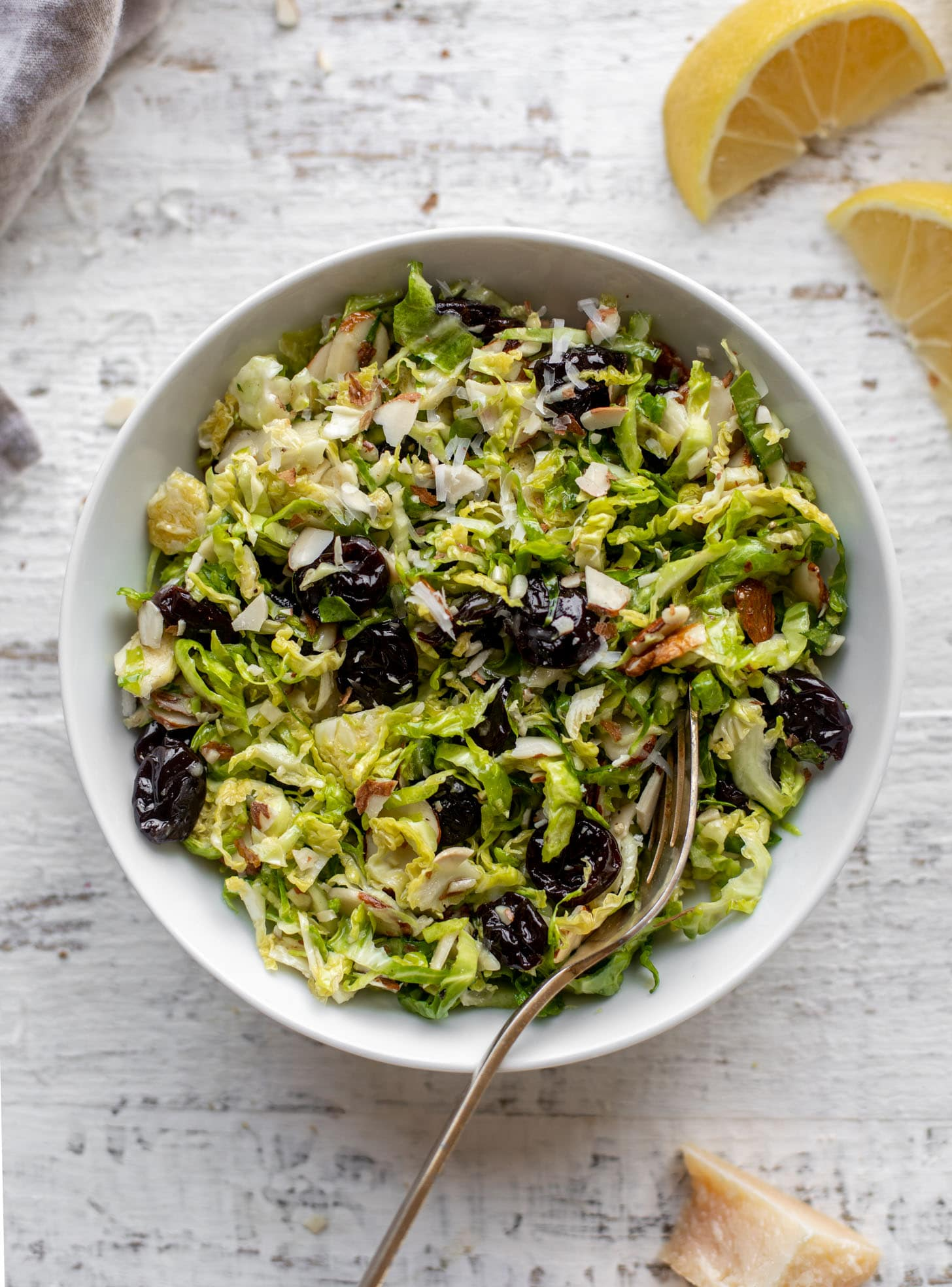 sweet and savory brussels sprouts slaw