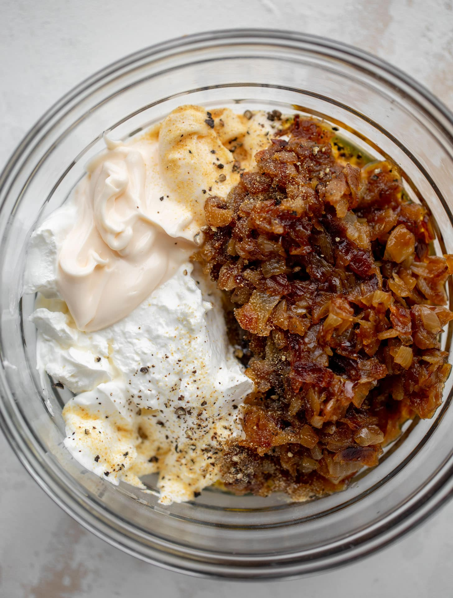 caramelized onion dip ingredients