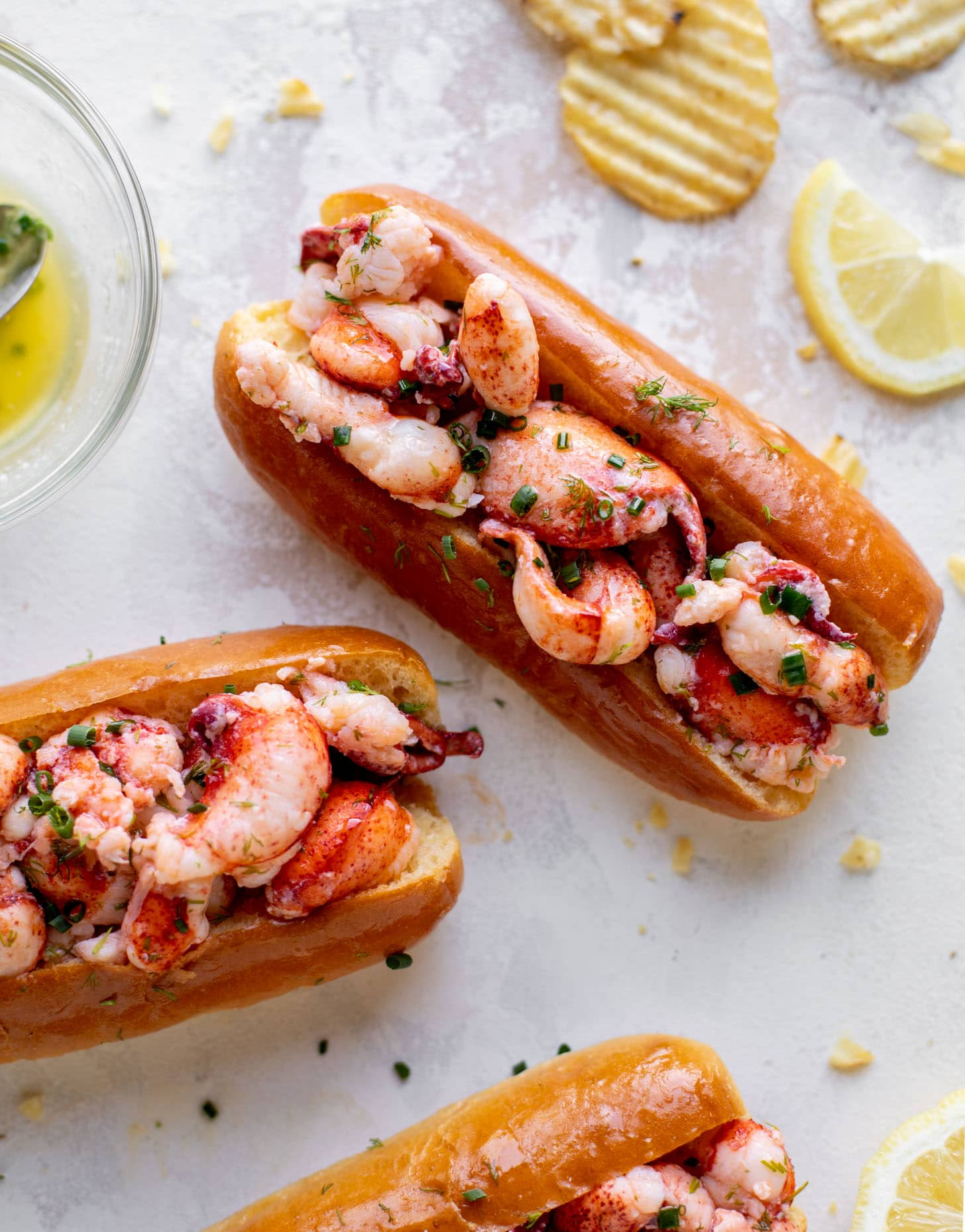 warm and buttery lobster rolls