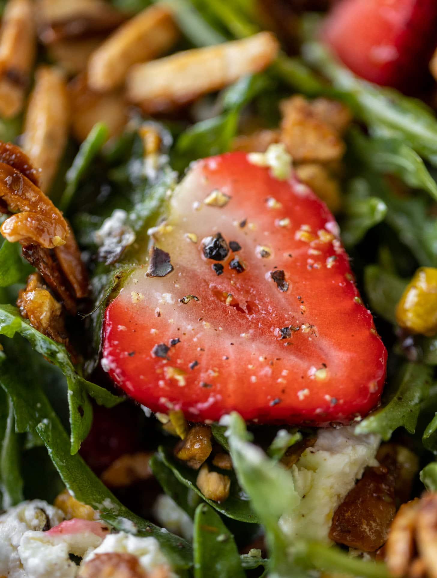 up close strawberry salad