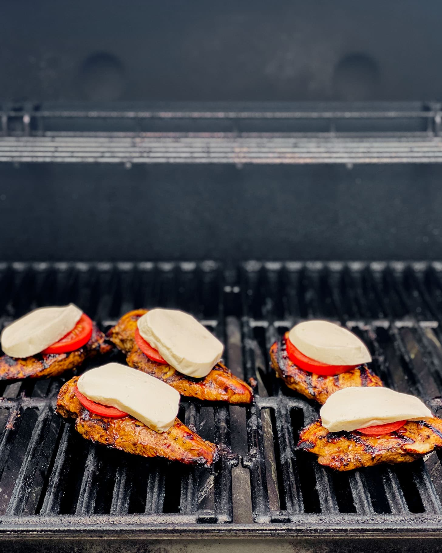 grilling the chicken parmesan