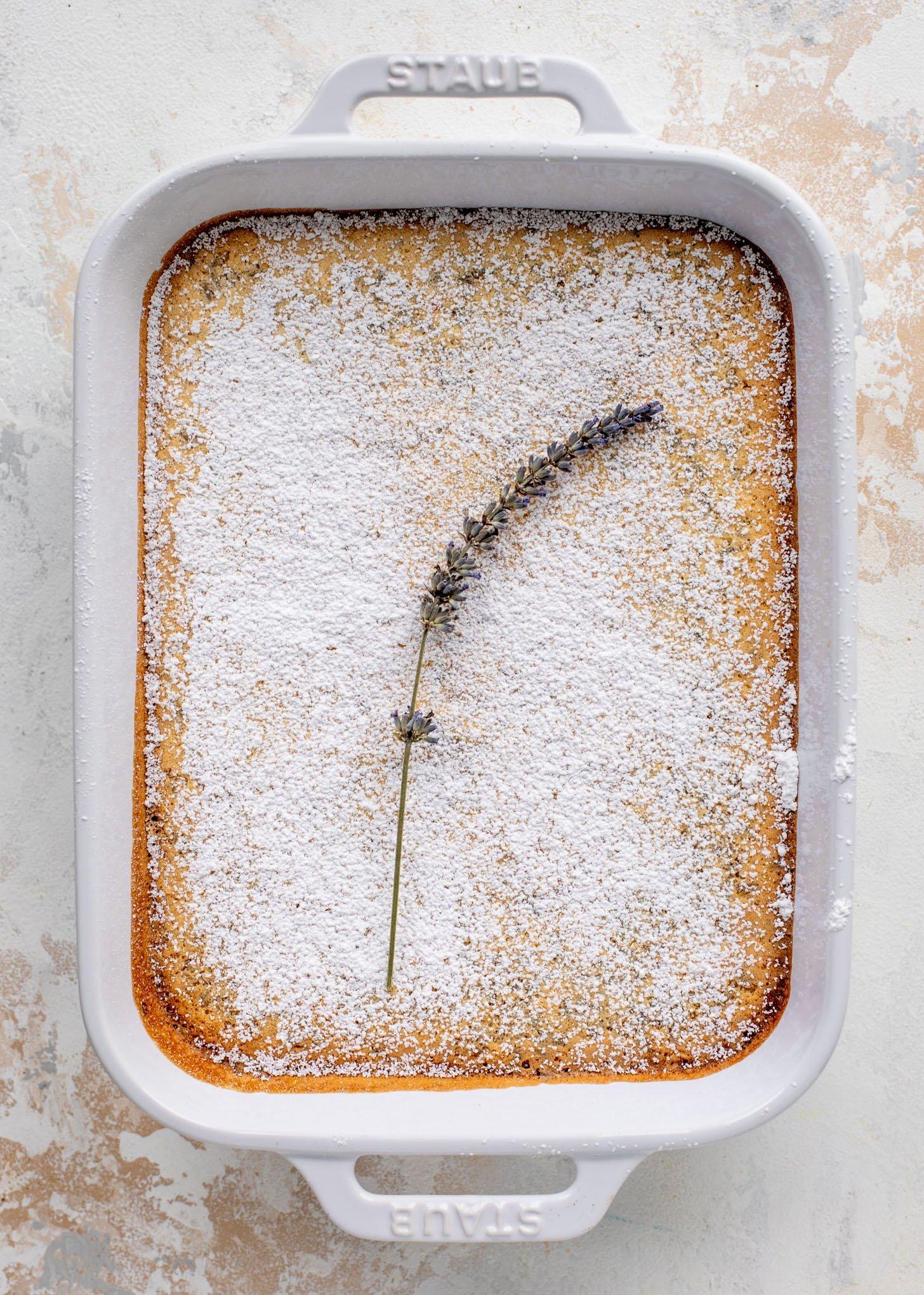 baked lavender lemon bars