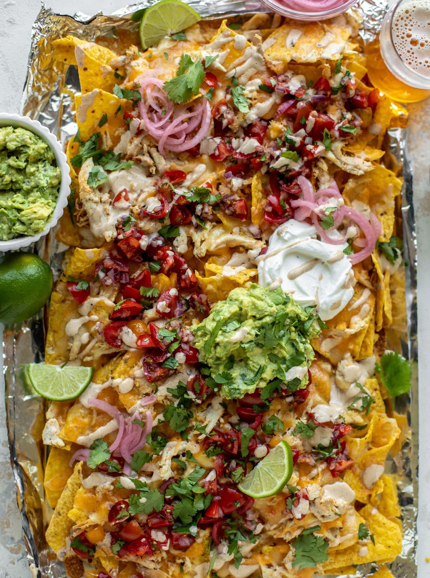 smoky grilled chicken nachos