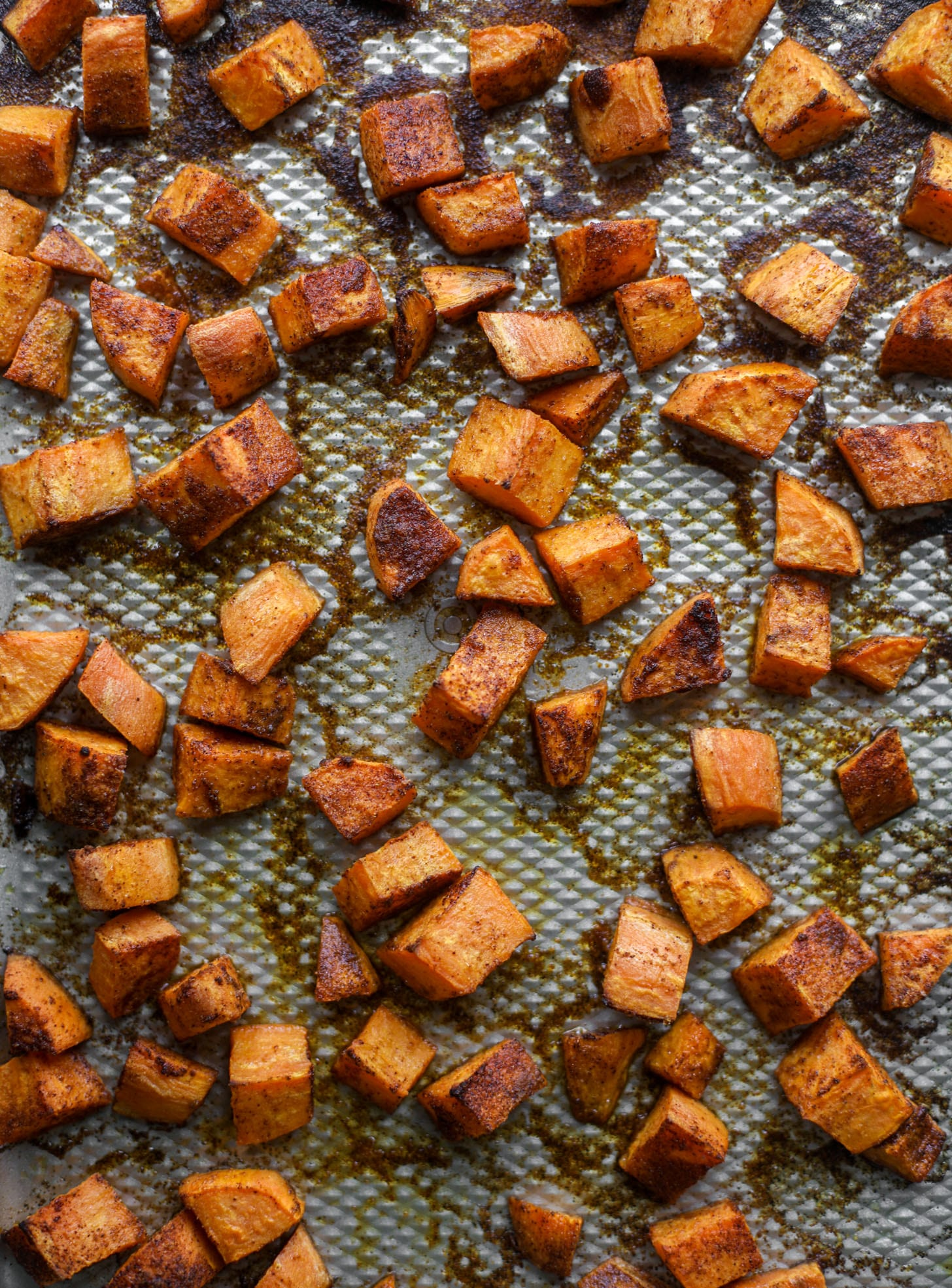 roasted chili lime sweet potatoes