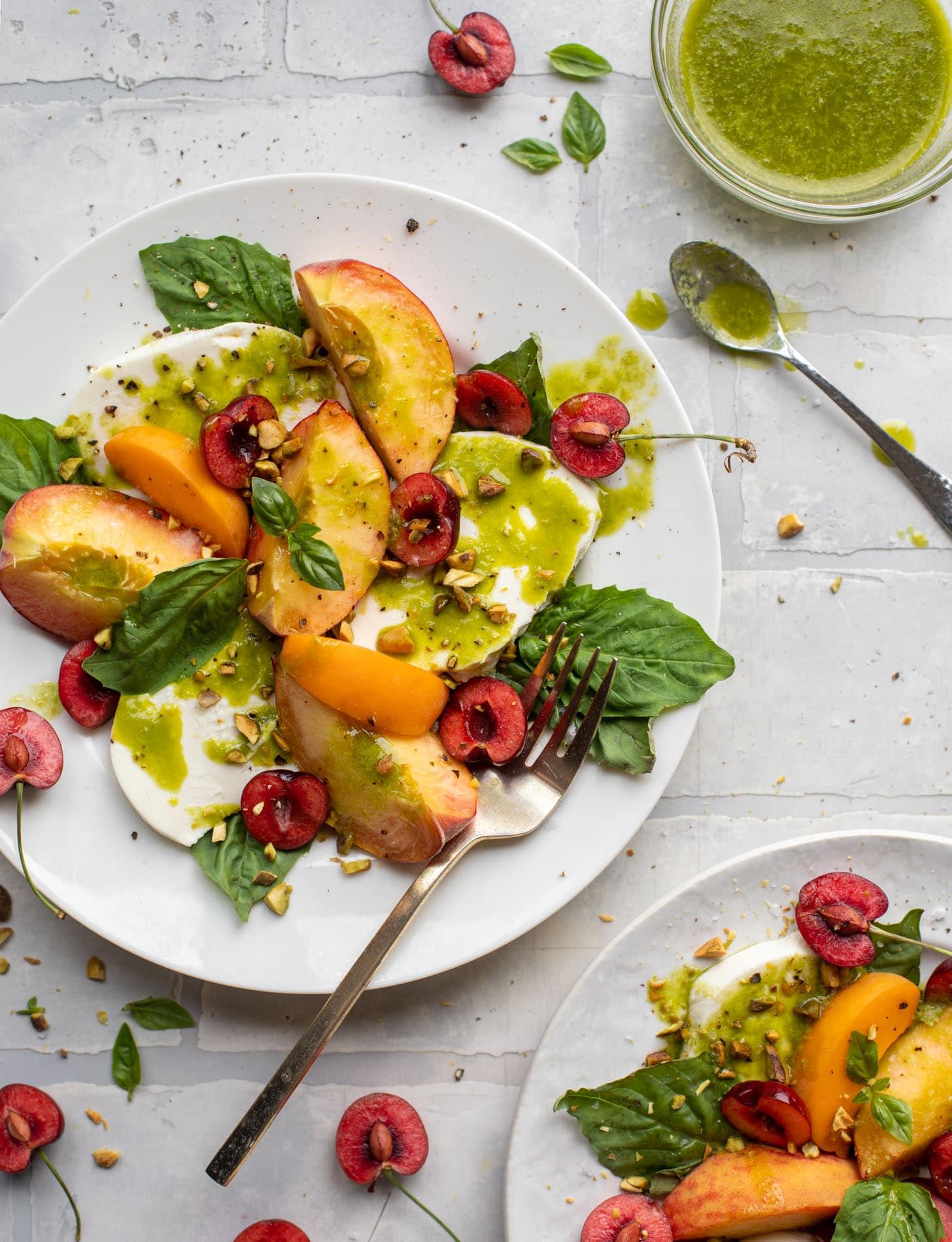 summer stone fruit caprese