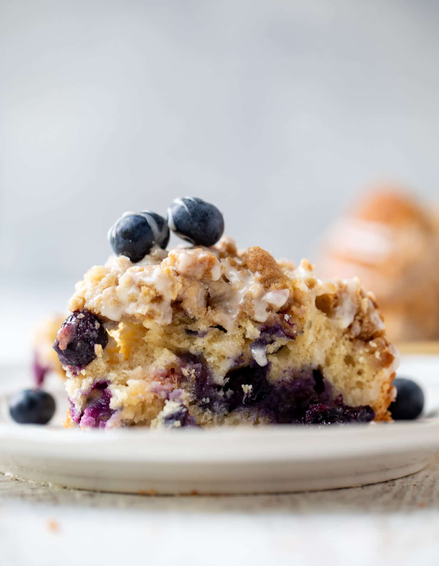 blueberry peach coffee cake