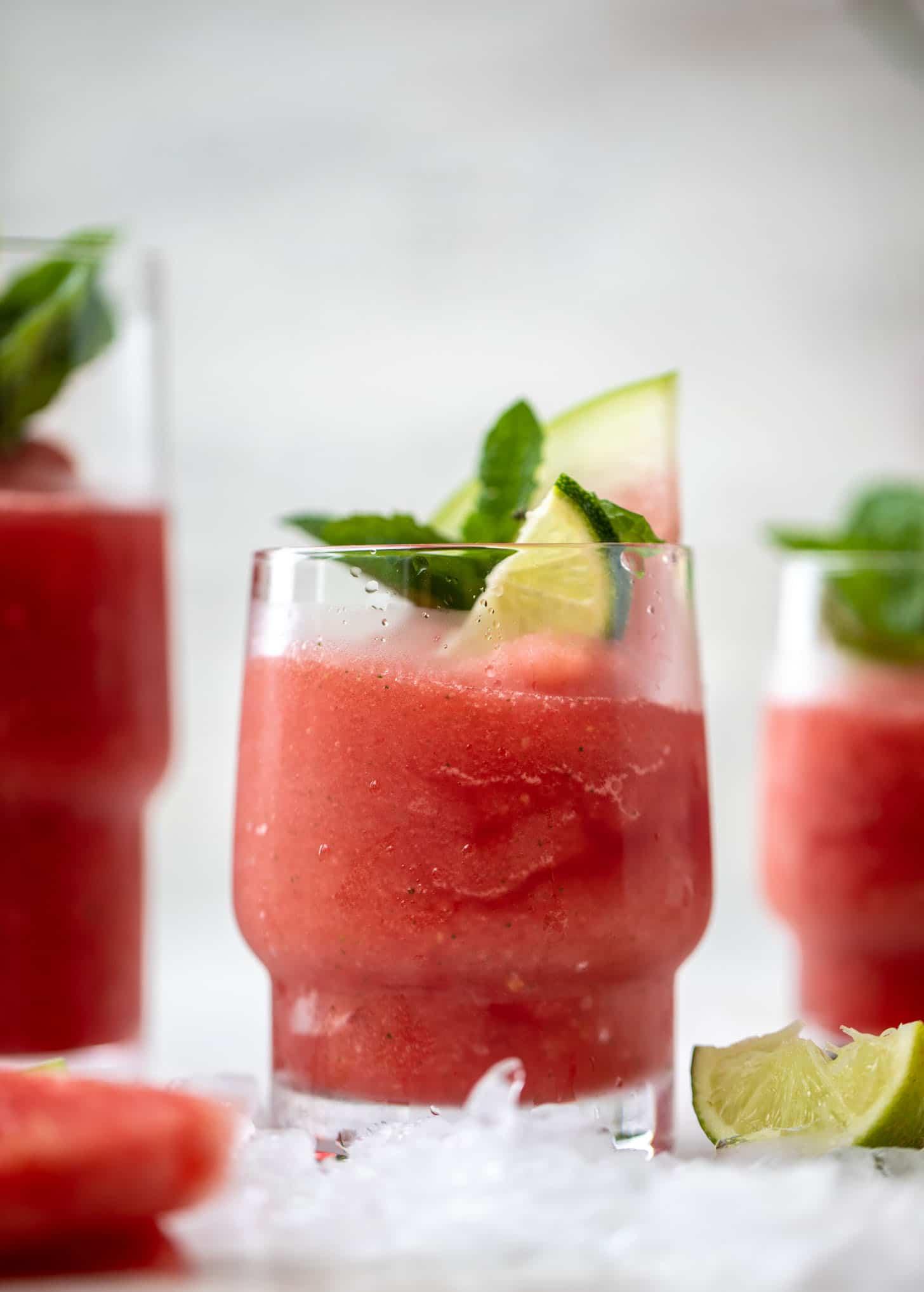 frozen watermelon mojitos
