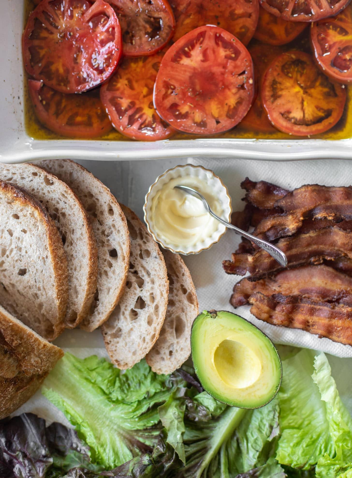 marinated tomato BLAT ingredients